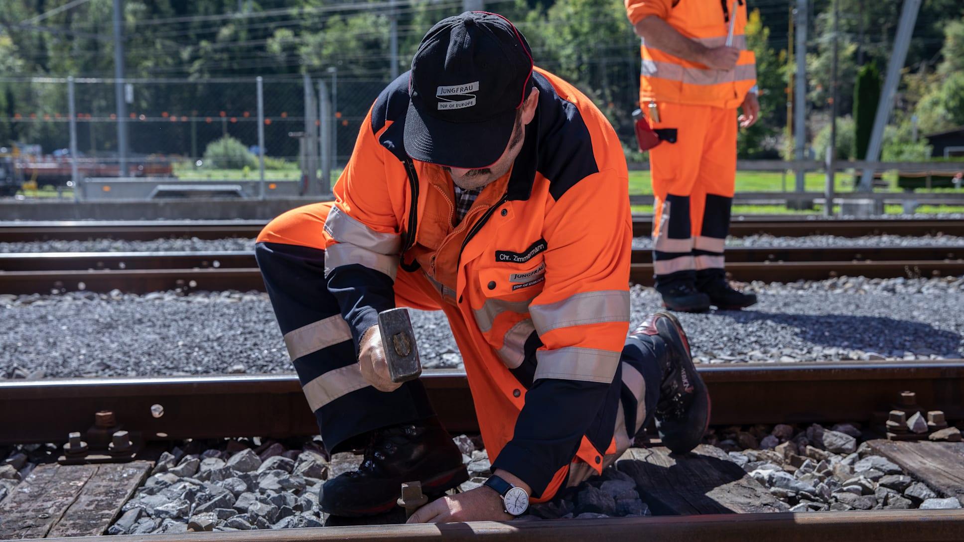 Gleisbauer Jungfraubahnen Streit Martin 2