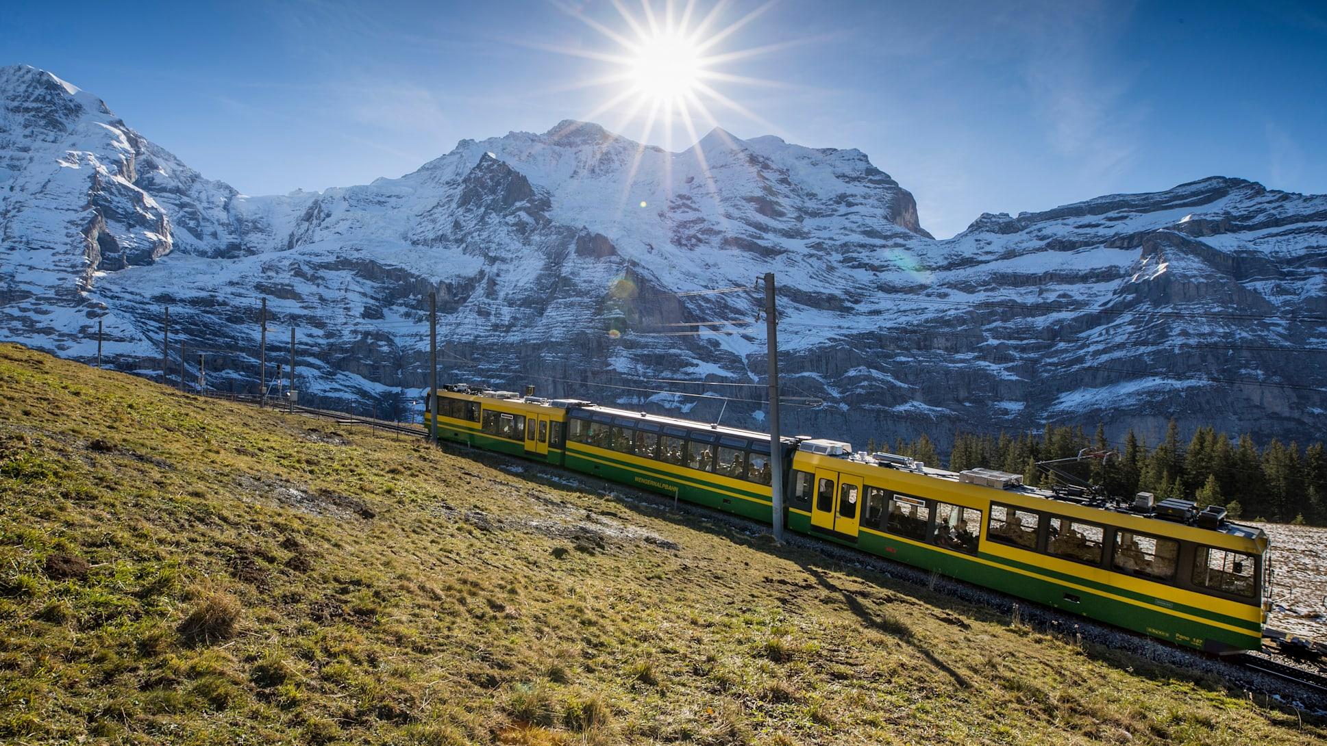 Wengernalpbahn jungfrau herbst