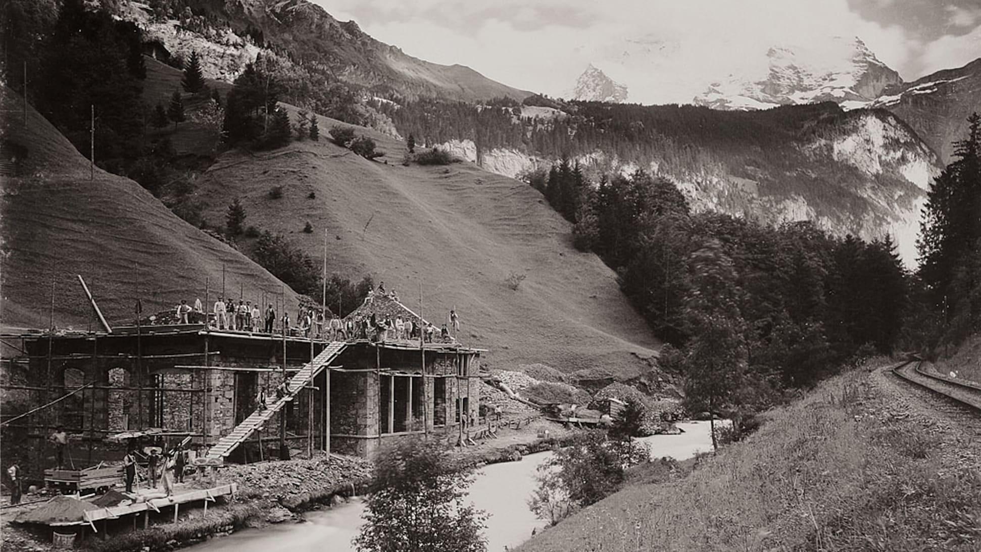 Bau der Jungfraubahn12