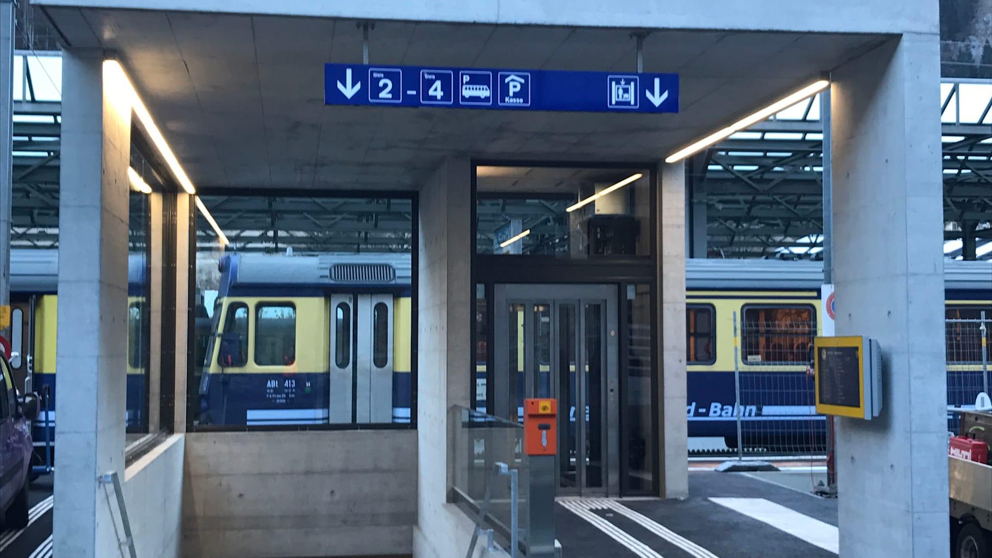 Unterführung Seite Dorf Bahnhof Lauterbrunnen