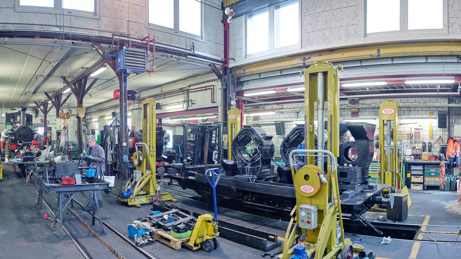 Schynige Platte Bahn Revision Rollmaterial Werkstatt