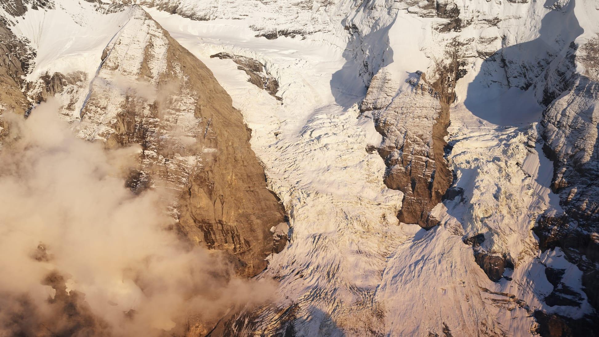 Guggigletscher Jungfraujoch Berner Alpen