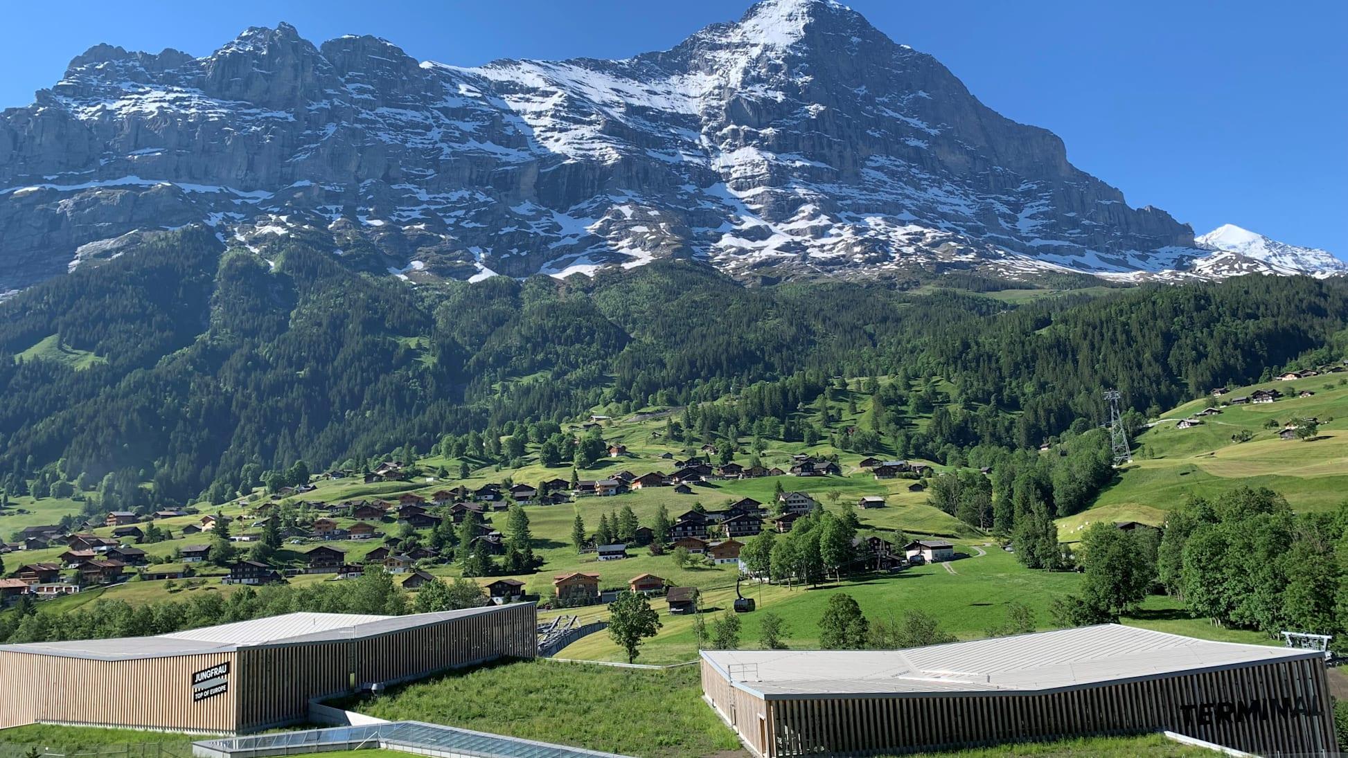 Terminal Eiger Gletscherspalte