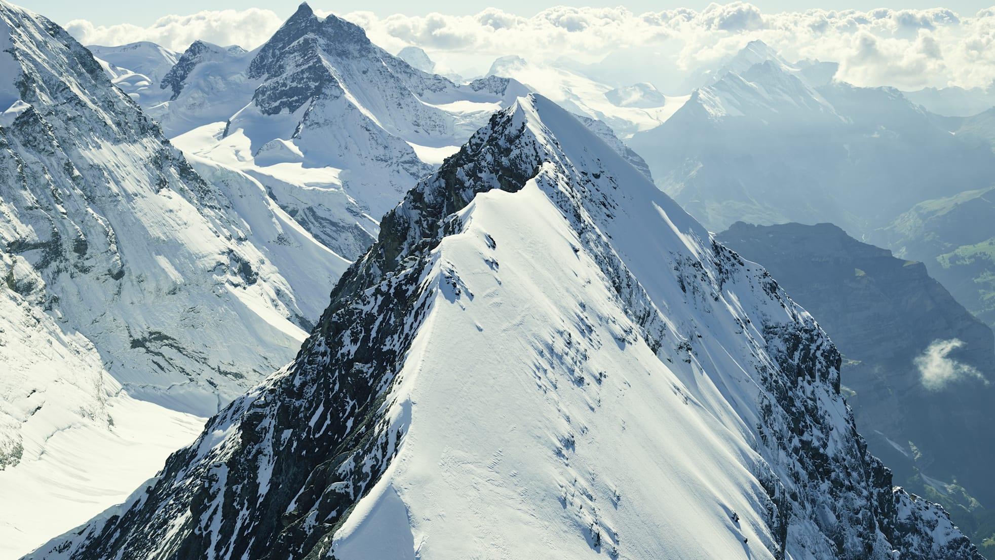 Eiger Jungfrau Mittellegigrat Panorama