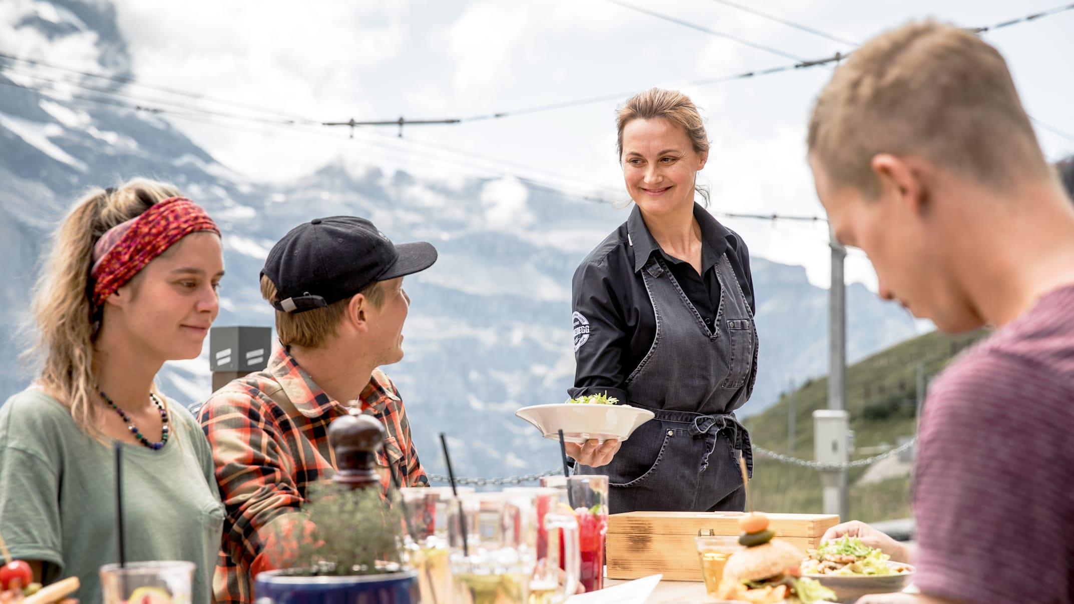 Kleine Scheidegg Mountain Restaurant food