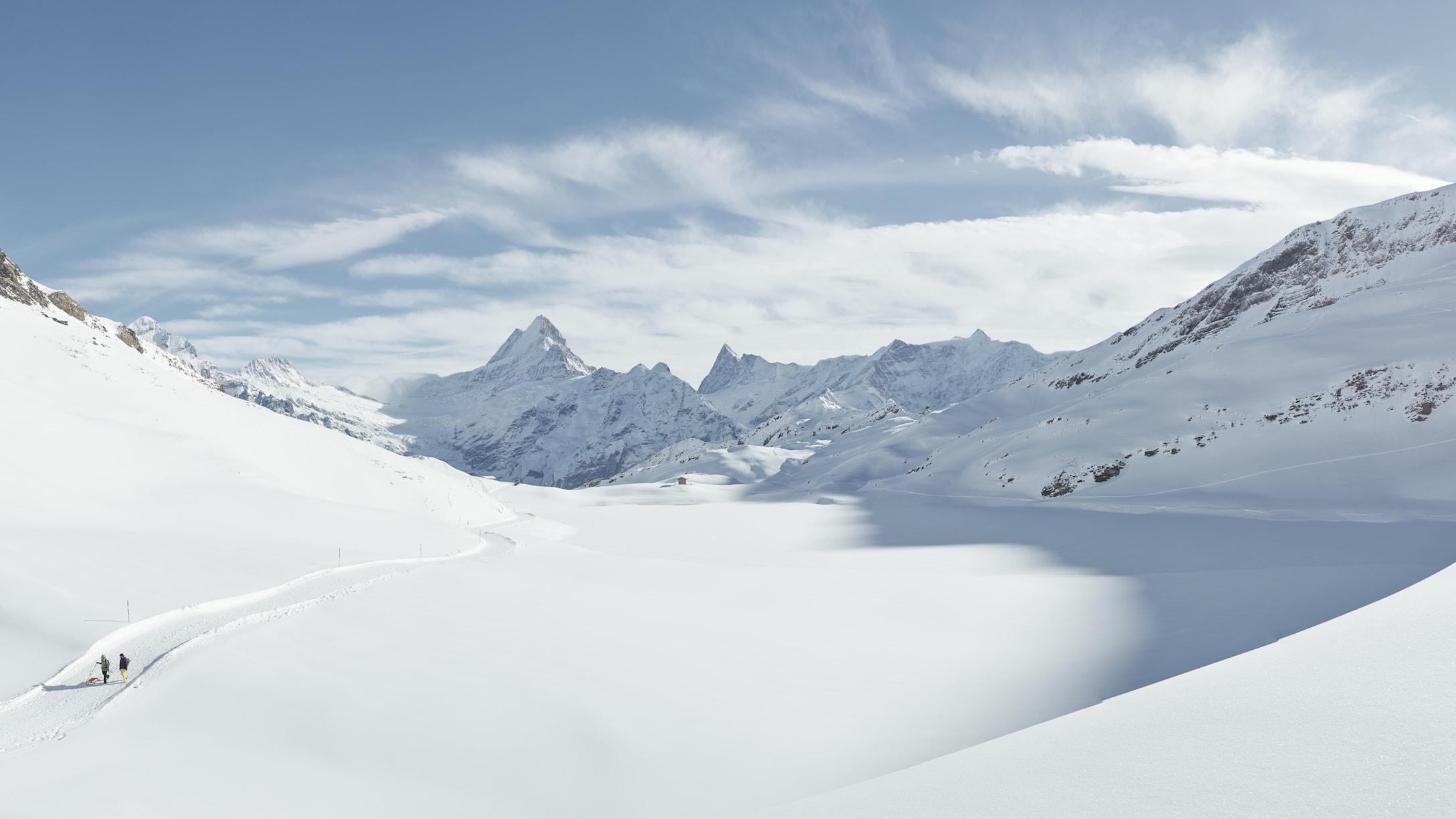 Winterwandern Grindelwald Bachalpsee Schreckhorn