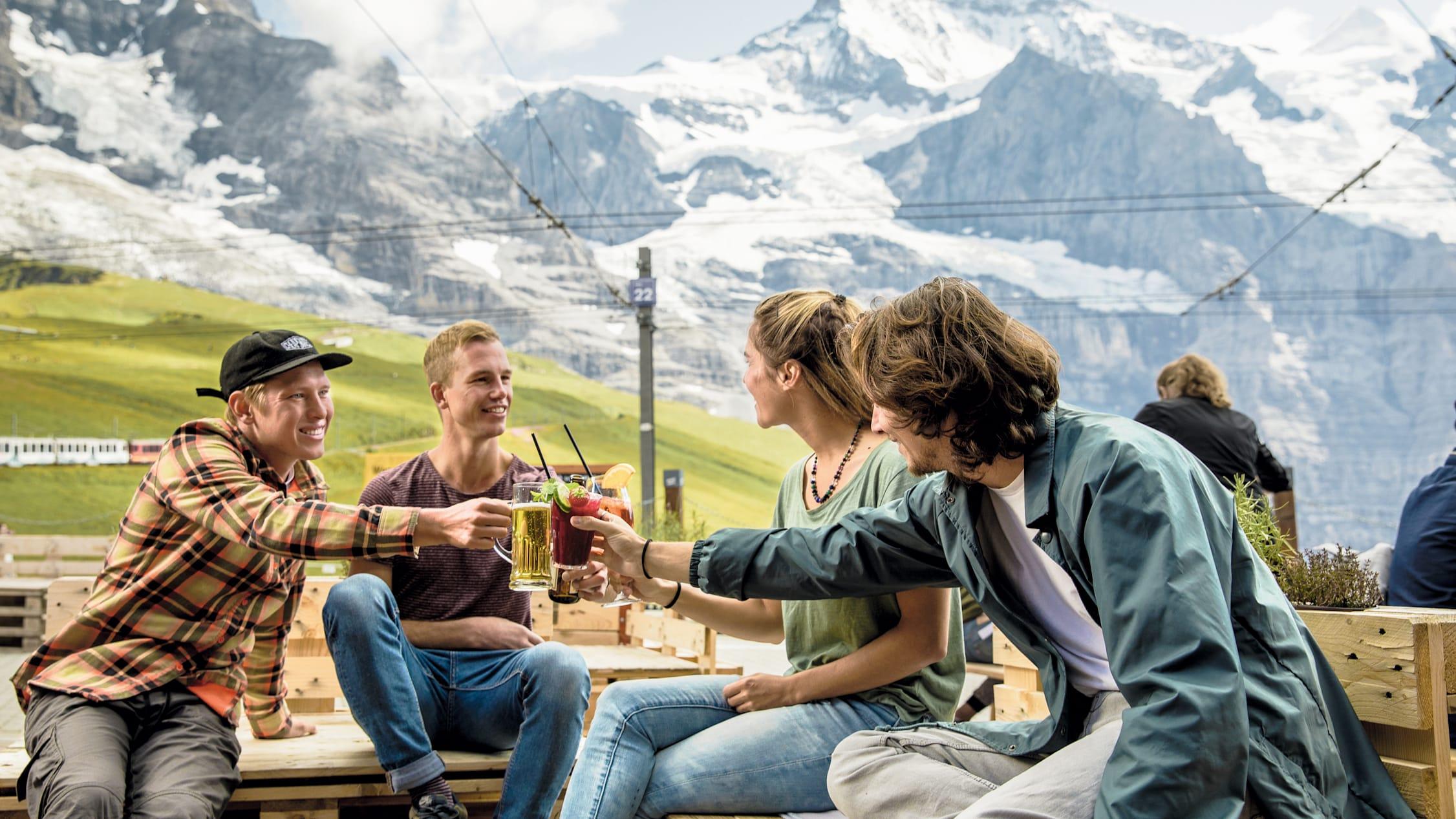 Kleine Scheidegg Mountain Restaurant drinks