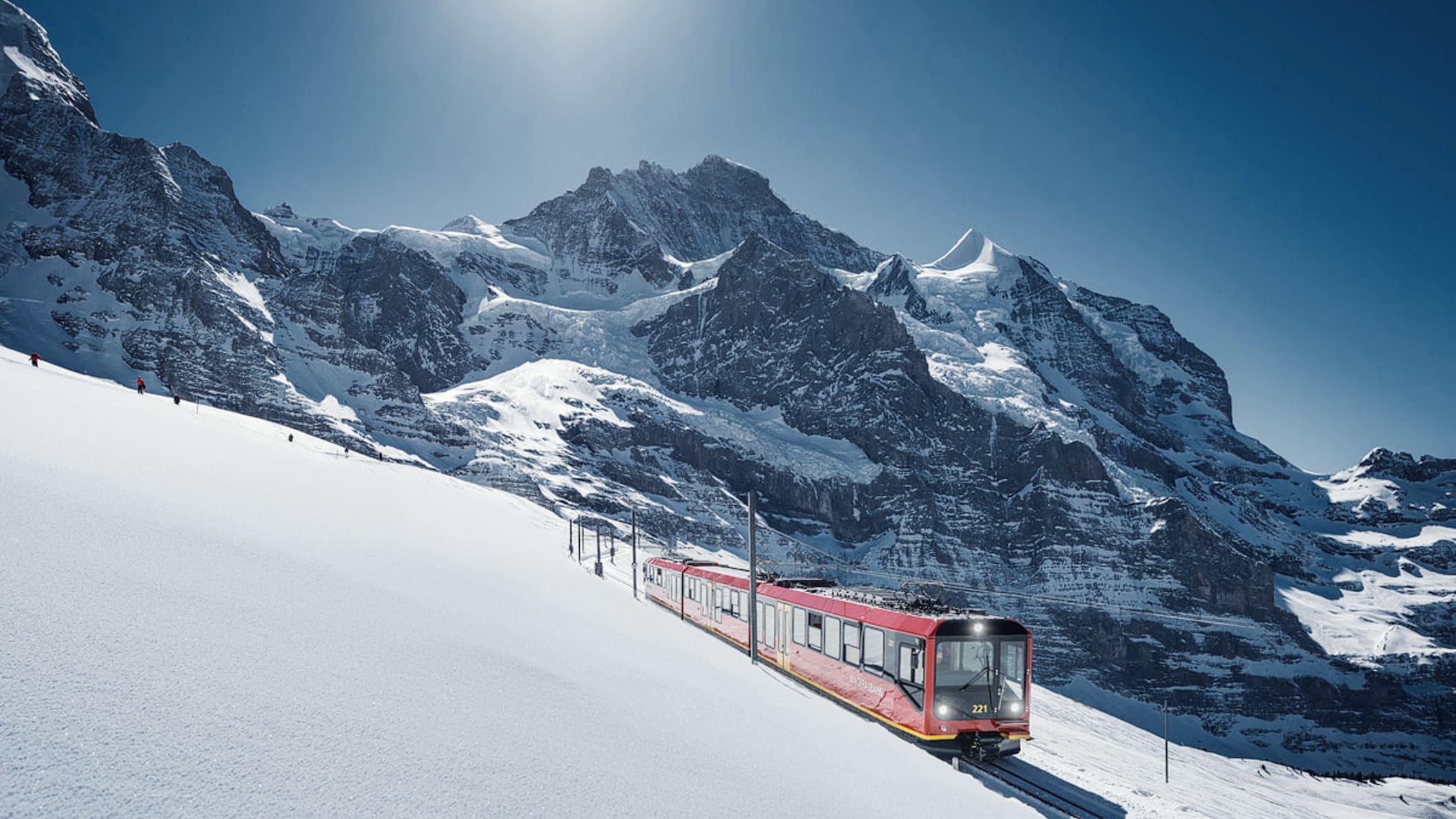 Jungfraubahn Schnee Jungfraujoch