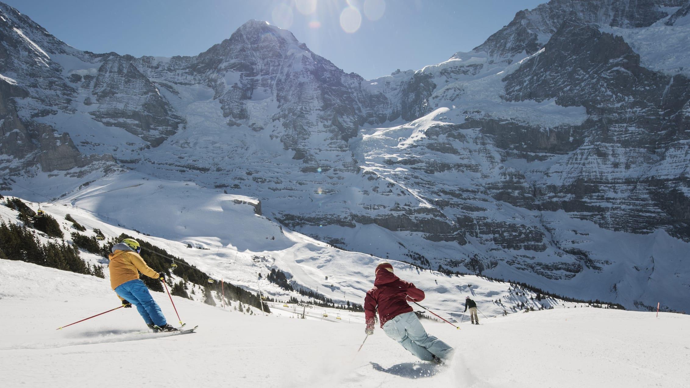 Skifahren Lauberhorn Eiger Moench Jungfraujoch