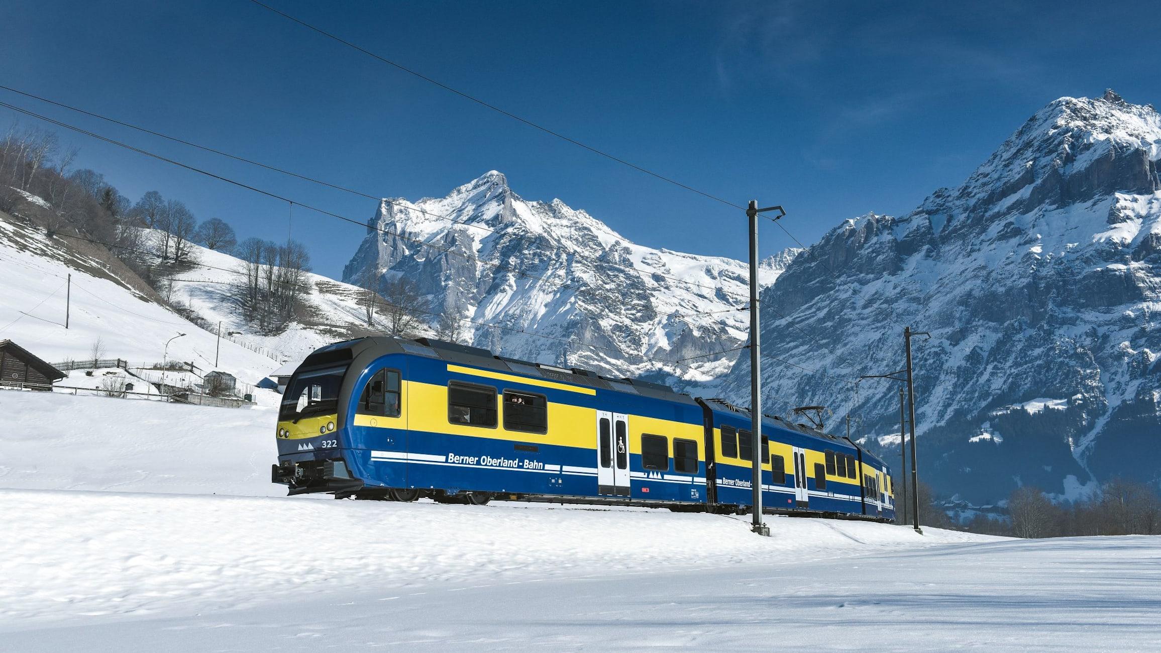 Berner oberlandbahn wetterhorn winter kl
