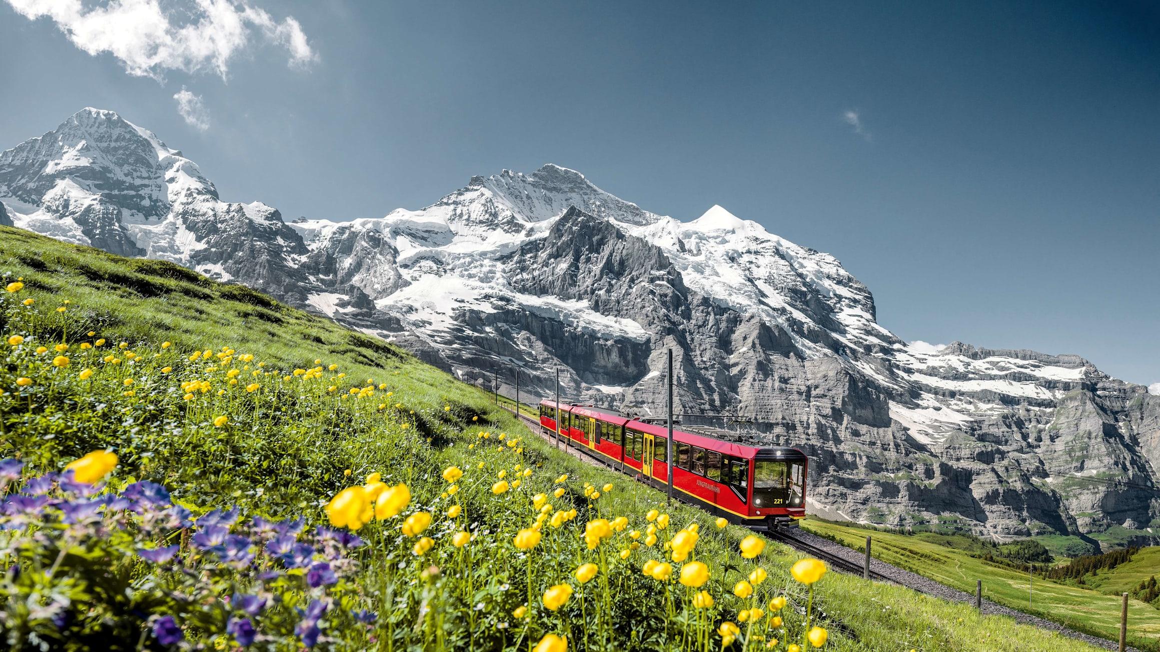 Jungfraubahn moench jungfrau sommer kl