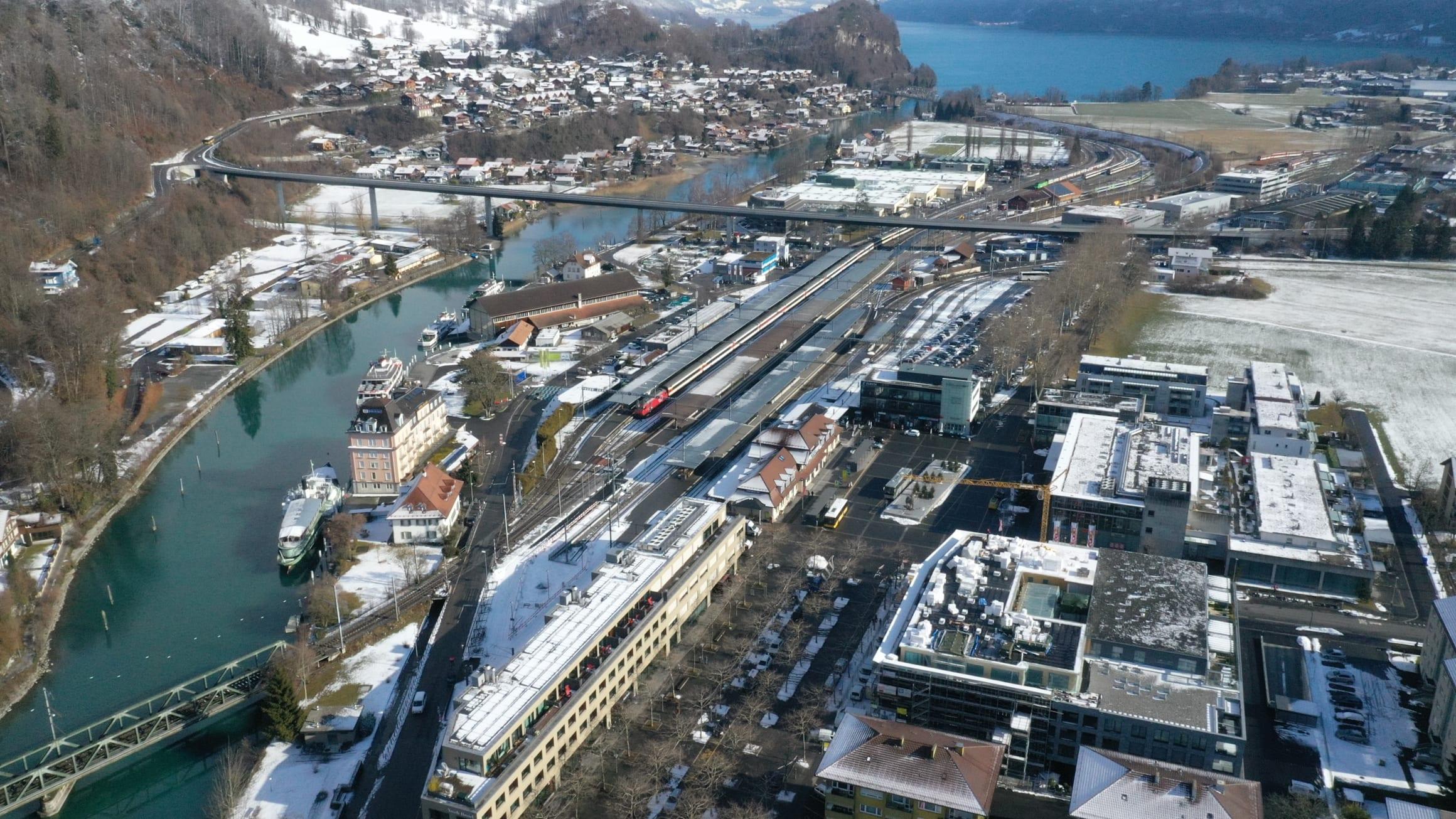 Drohnenaufnahme Areal Interlaken Ost
