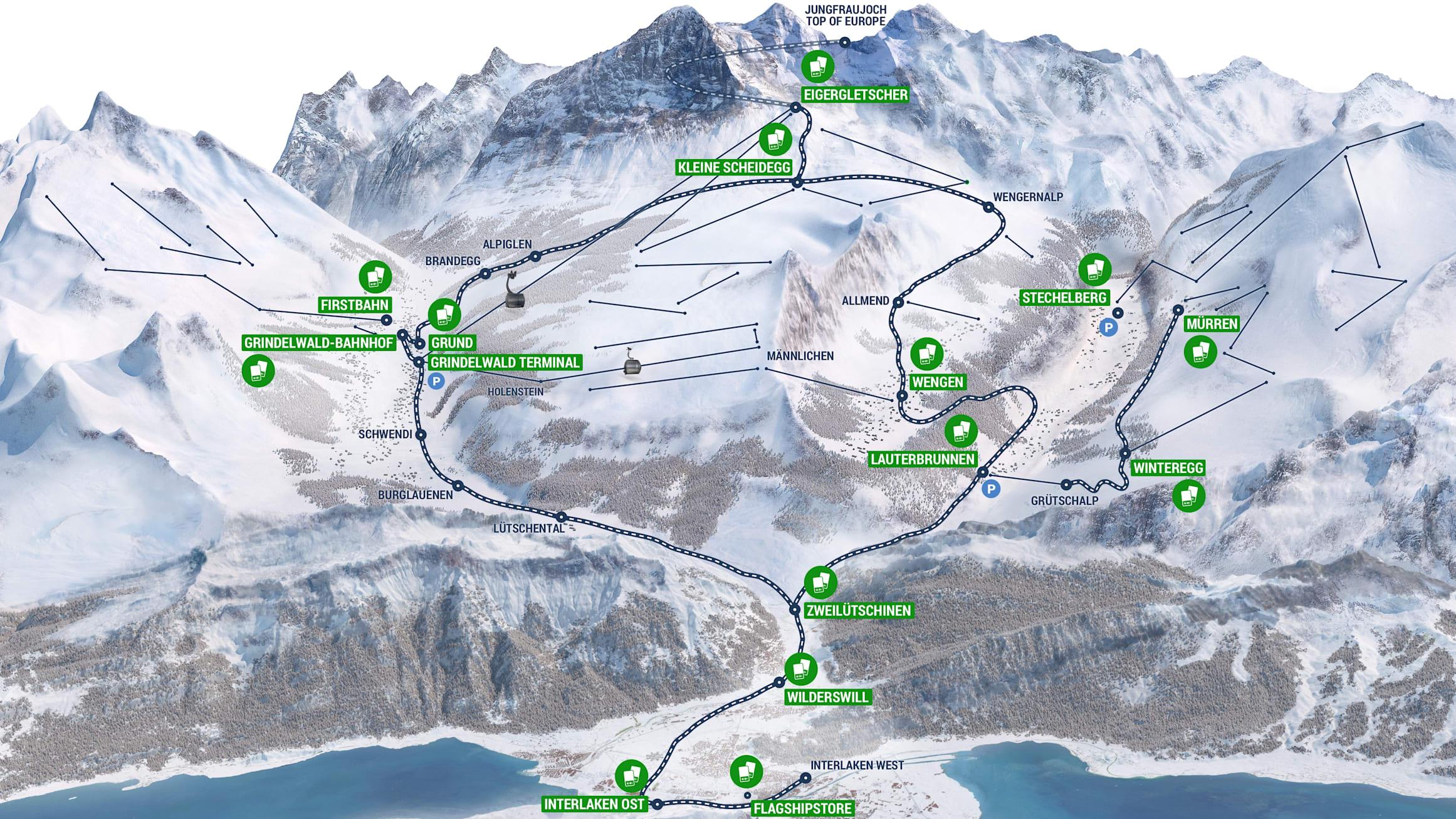 Jungfrau Ski Region Pick Up Skipass