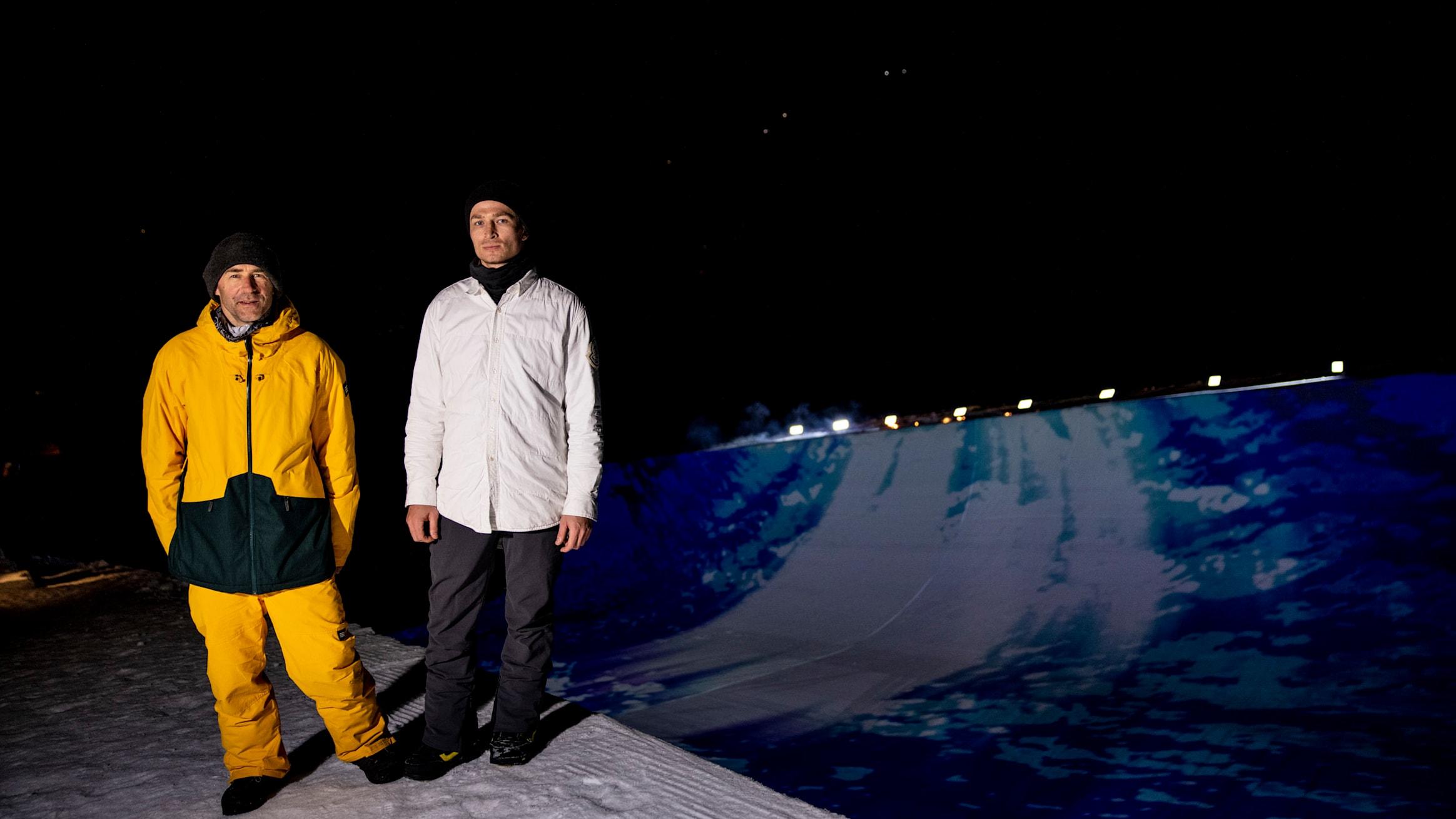 Gian Simmen links und Iouri Podladtchikov rechts