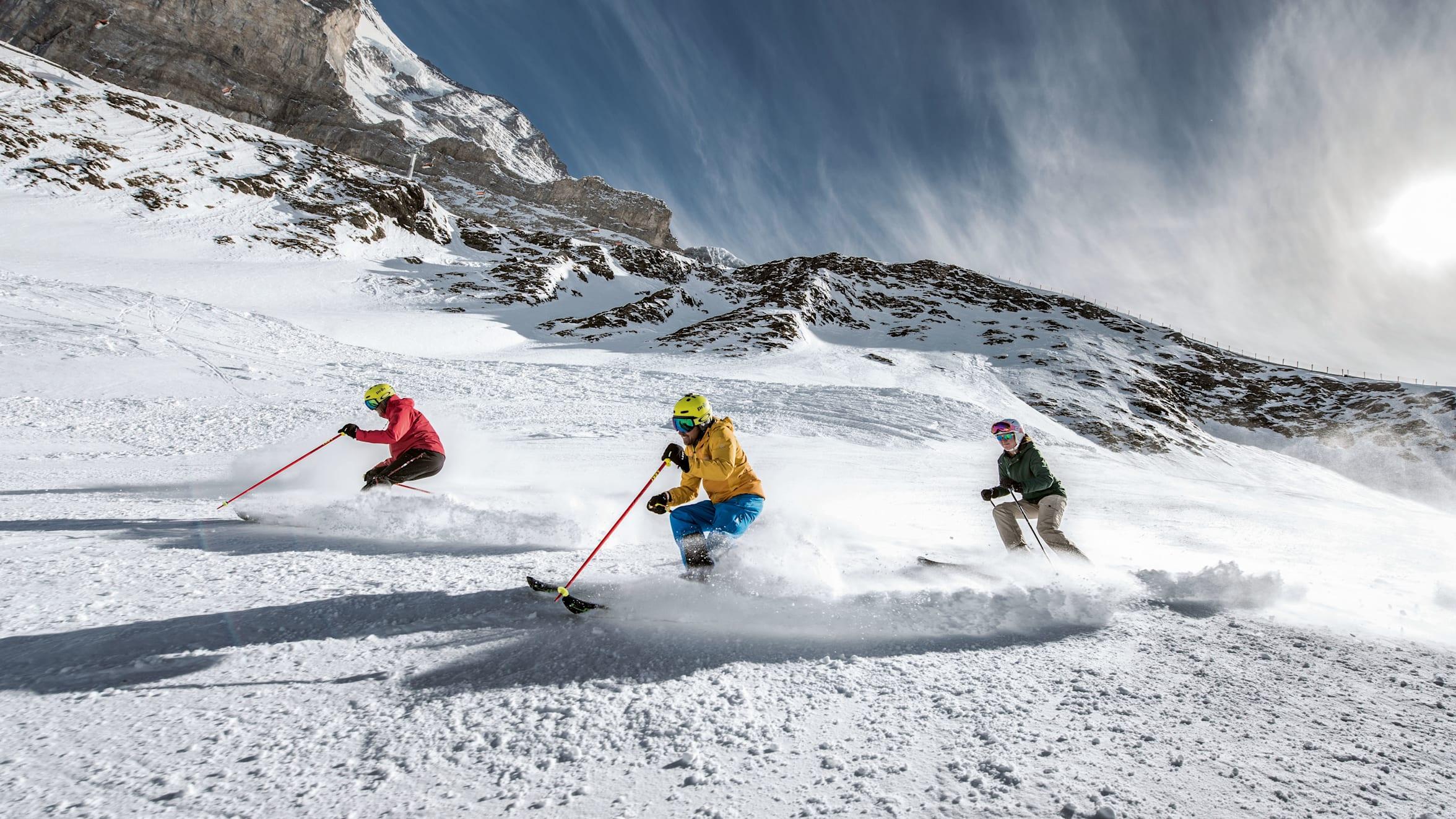 Jungfrau ski region Grindelwald Wengen friends ski