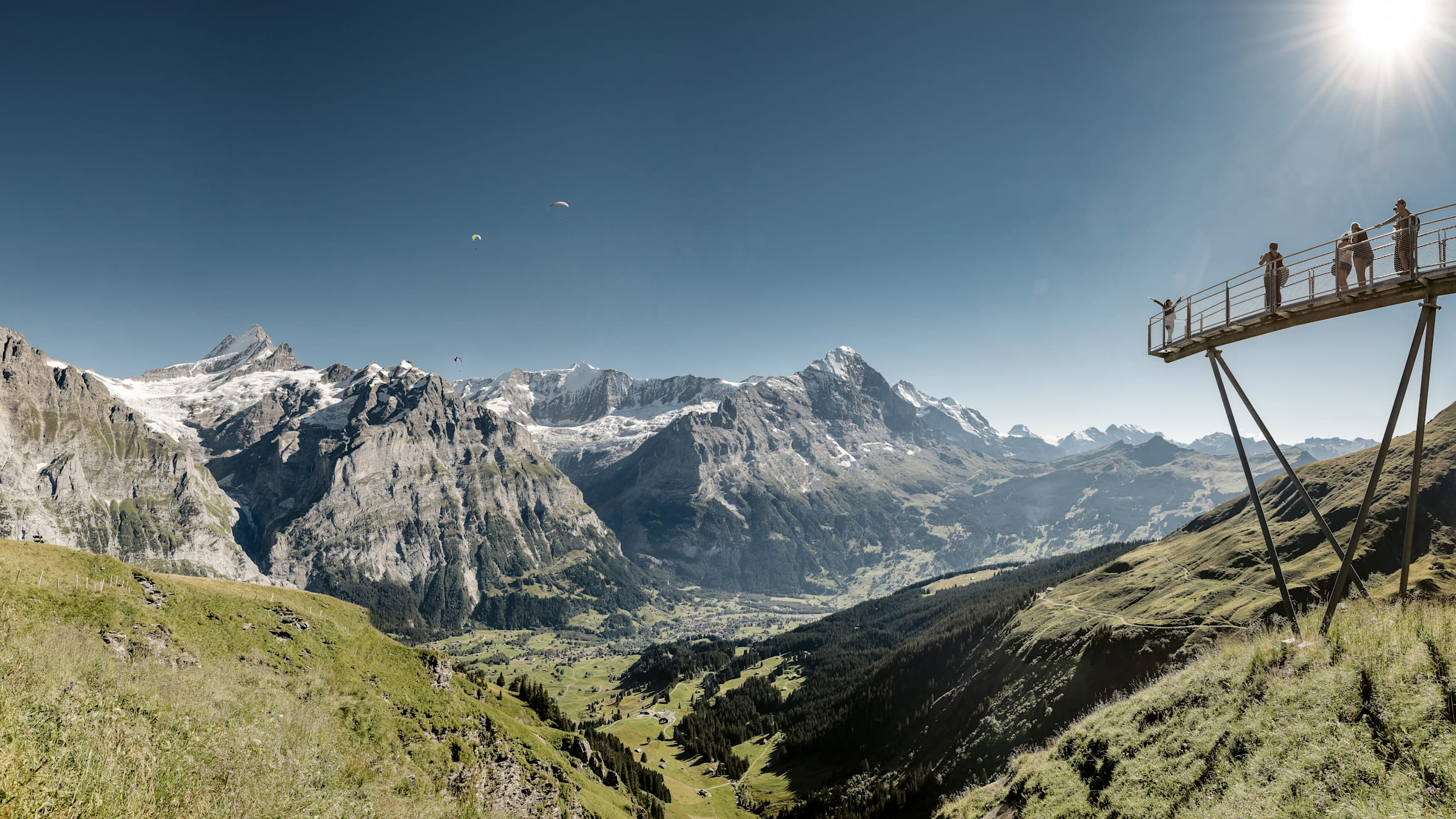 格林德瓦 菲斯特悬崖步道 高空滑翔伞