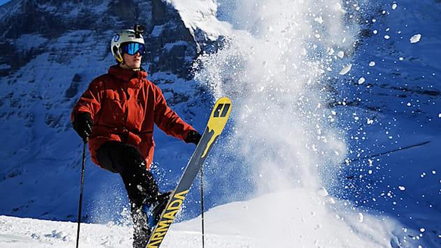 Wintersportler im Gebiet Kleine Scheidegg 11 Dezmber 2018