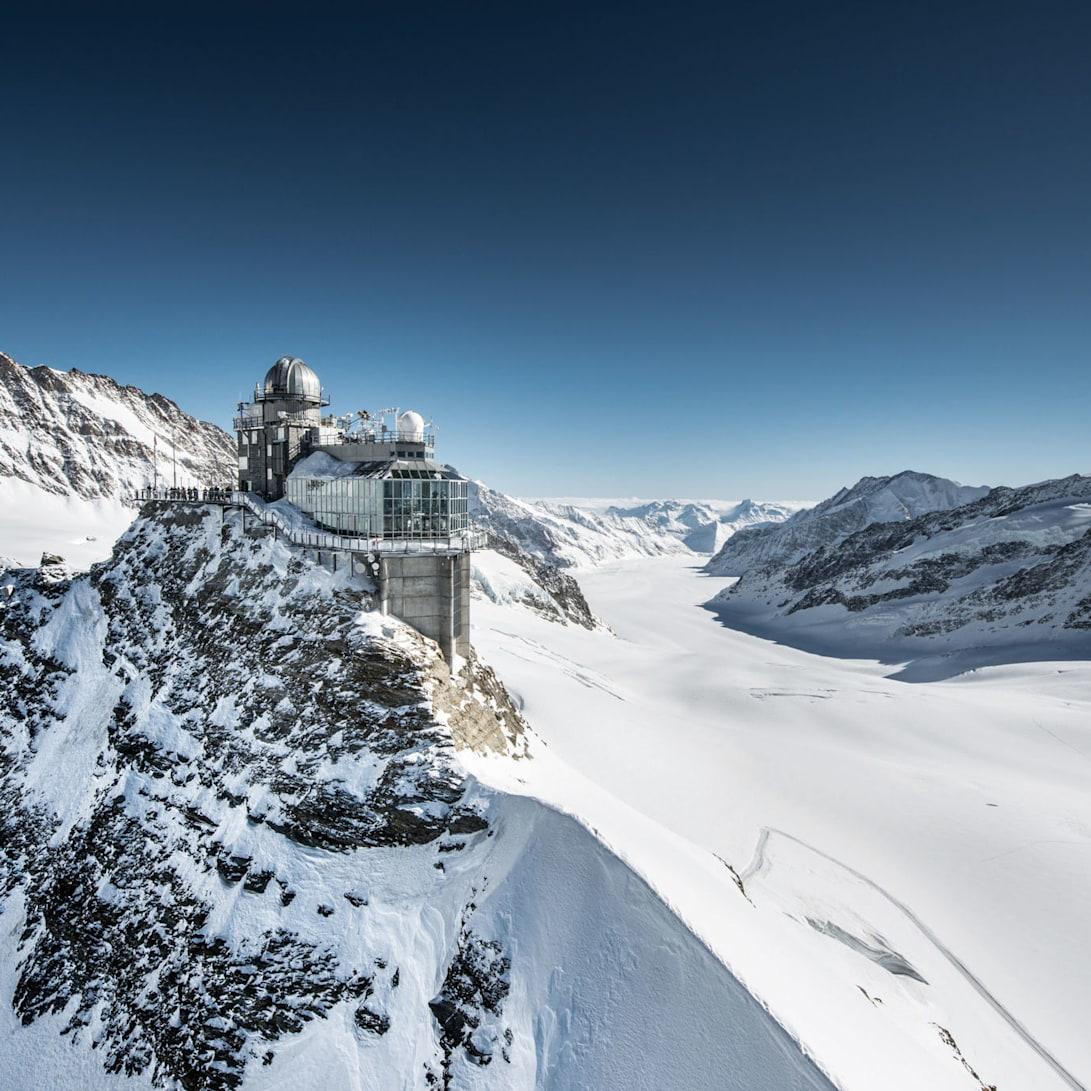 Sphnix aletschgletscher jungfraujoch top of europe