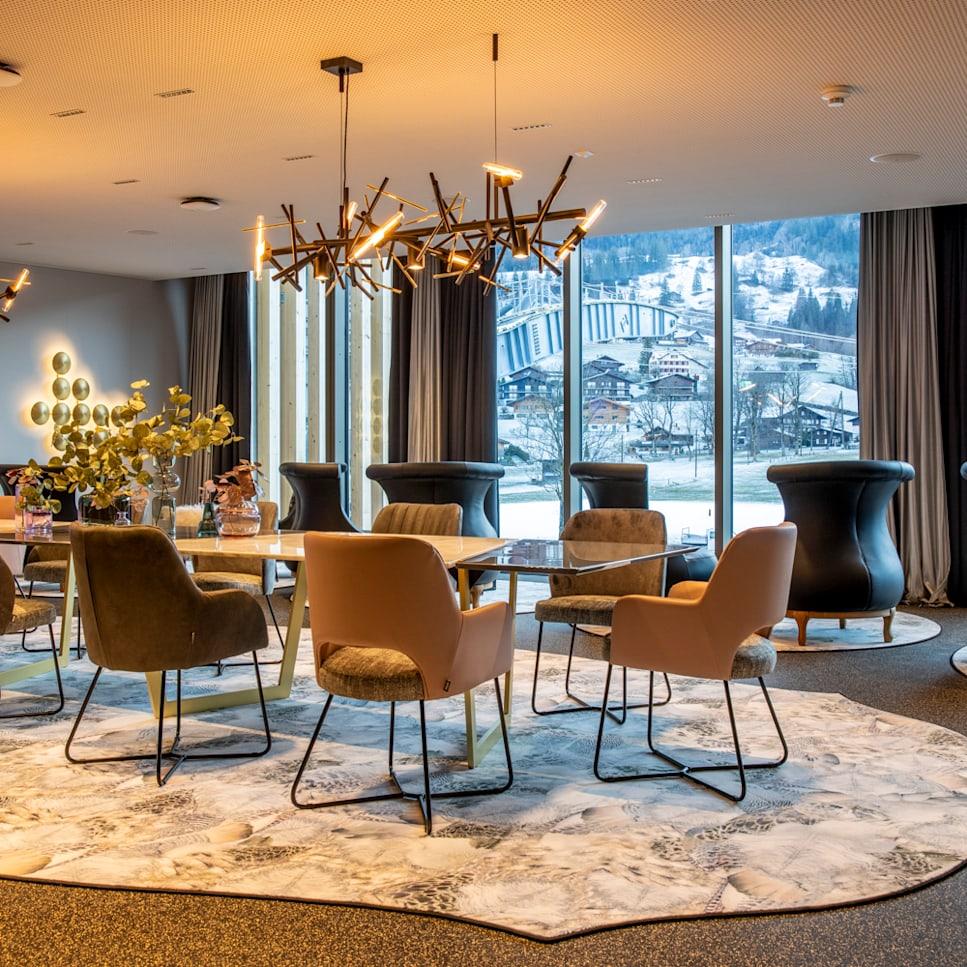Platinum Lounge Grindelwald Terminal Aussicht