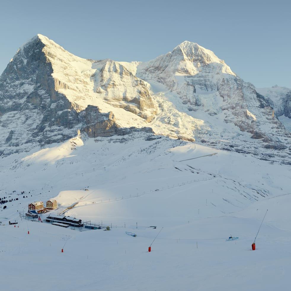 Kleine Scheidegg ski Eiger Moench Jungfraujoch