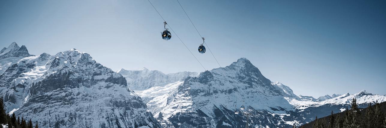 Firstbahn grindelwald eiger maettenberg schreckhorn winter