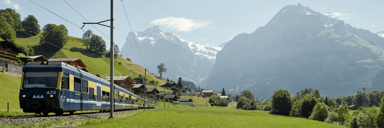 Berner oberland bahnen grindelwald wetterhorn maettenberg sommer