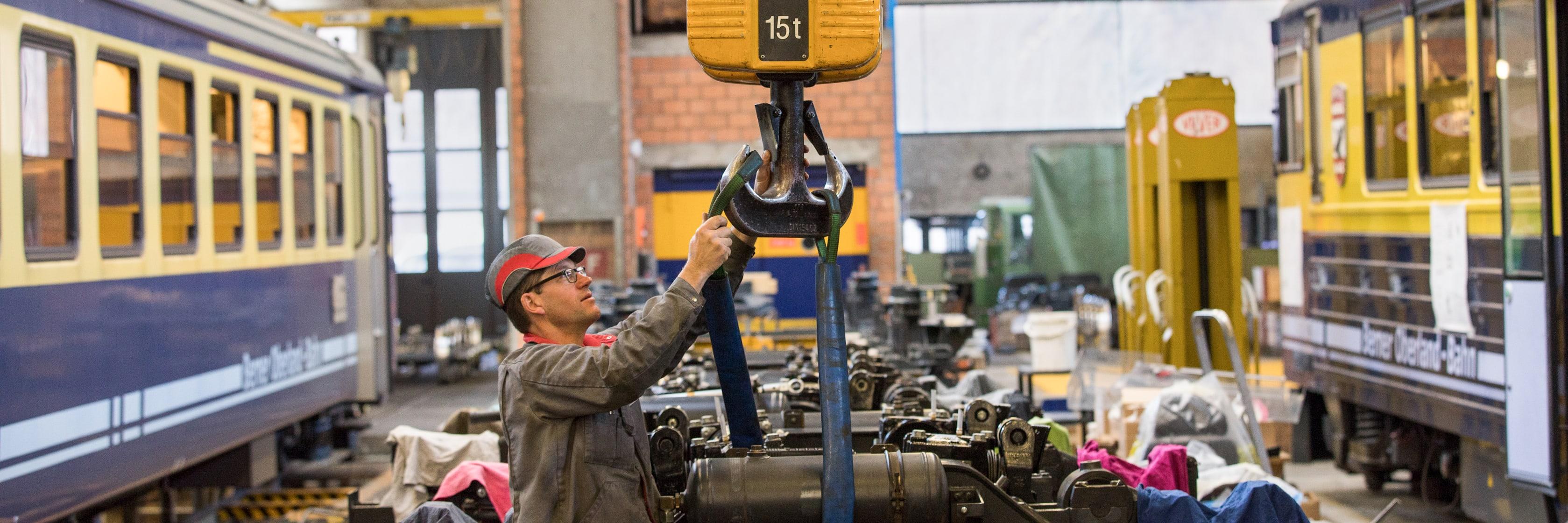Mechaniker Jungfraubahnen Danie Seematter 1