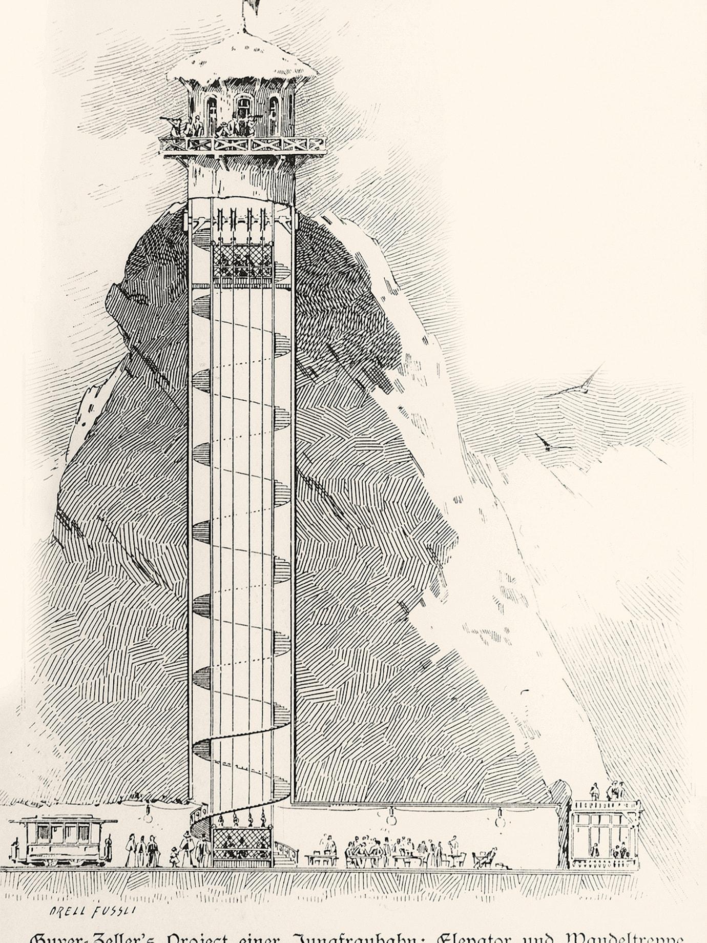 Bau der Jungfraubahn25