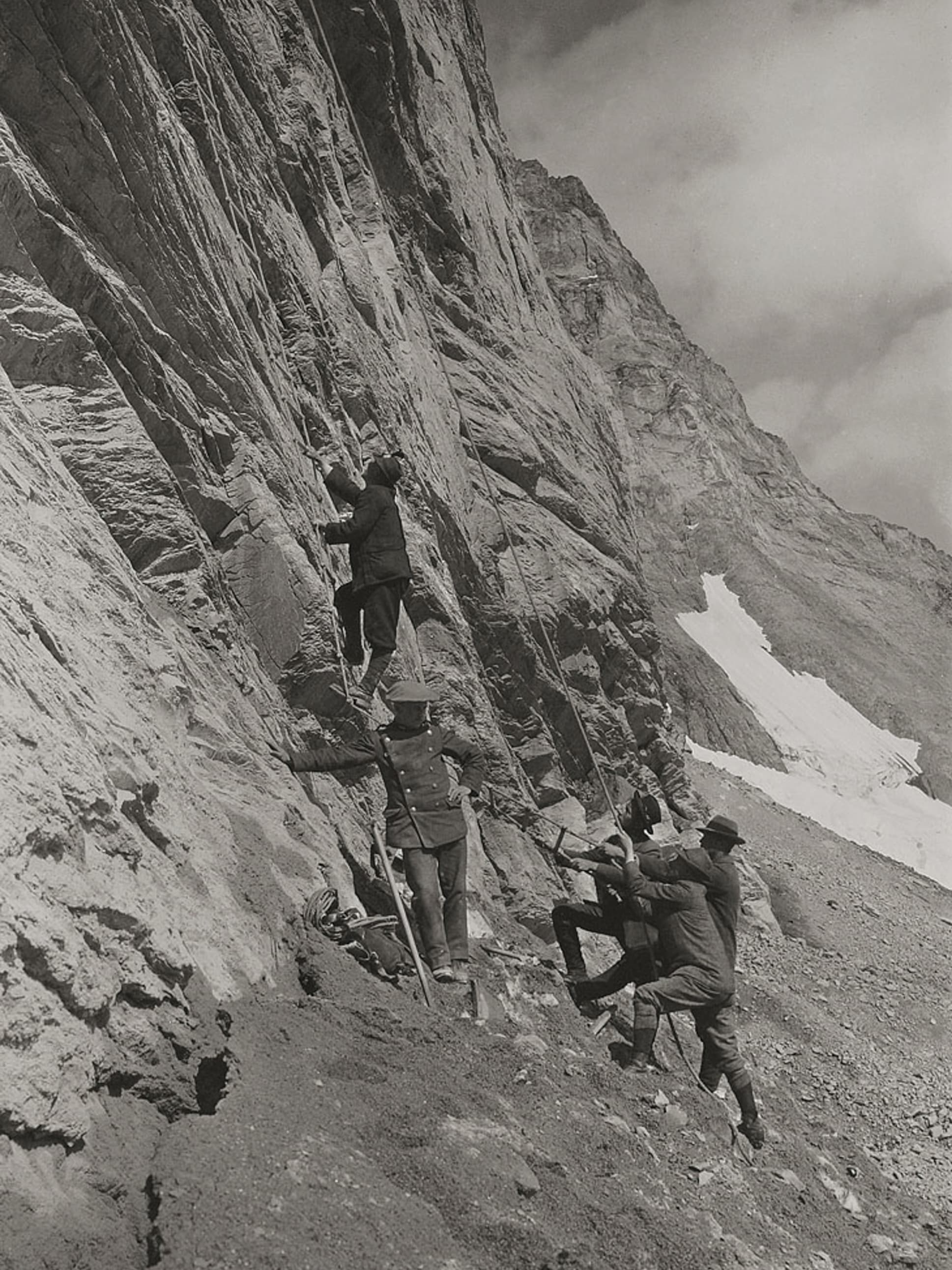 Bau der Jungfraubahn07