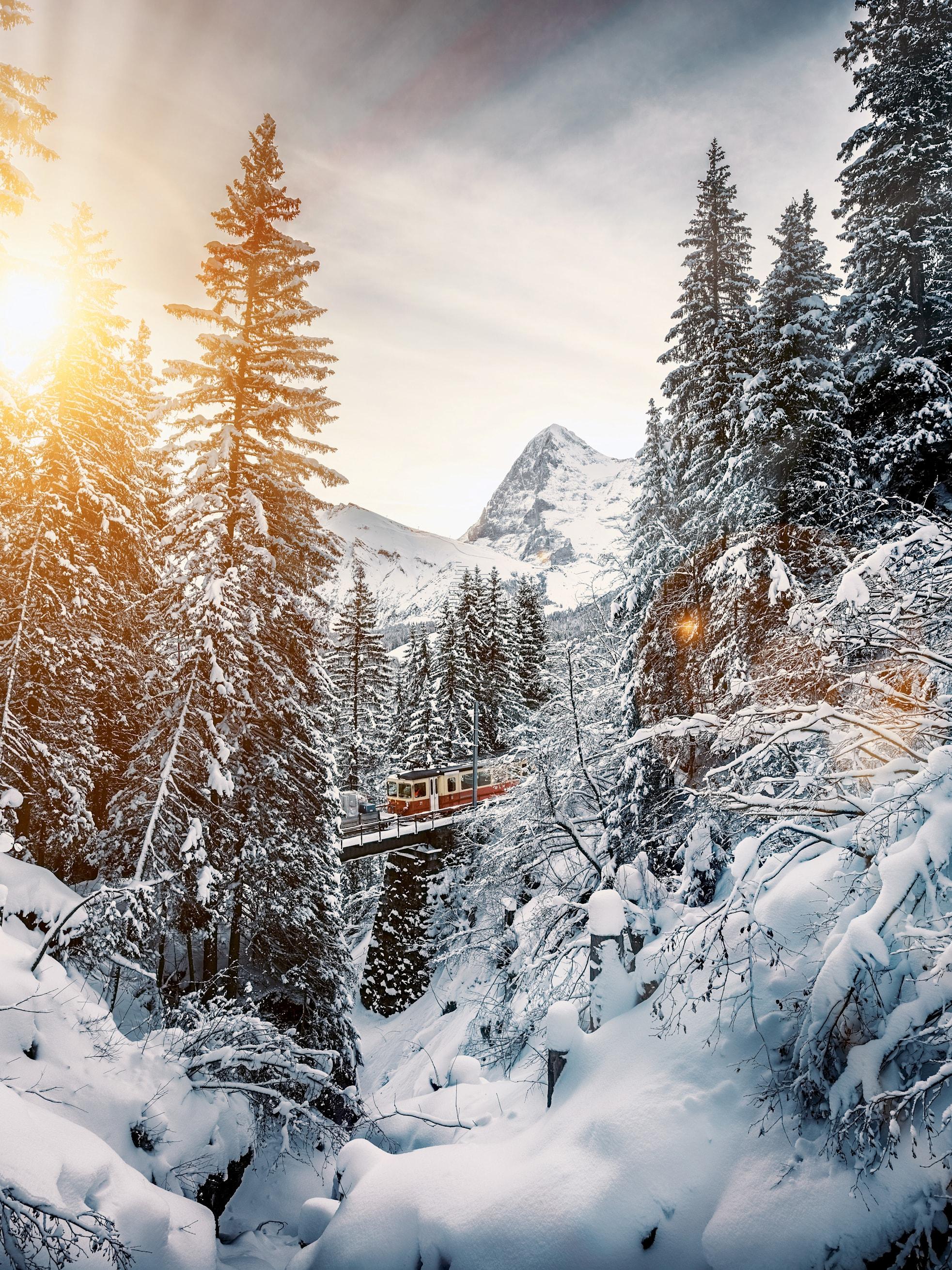 Bergbahn lauterbunnen muerren winter