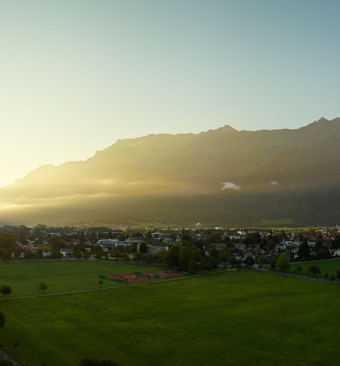 Interlaken Jungfrau Sonnenaufgang Sommer