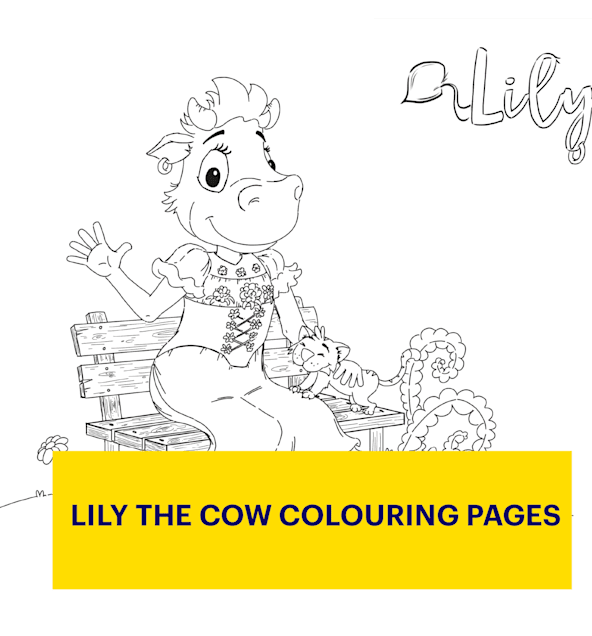 Colouring Pages Lily The Cow