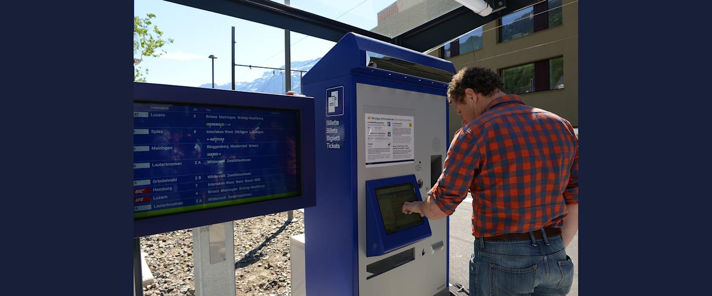 Zugsabfahrtsmonitor Ticketautomat