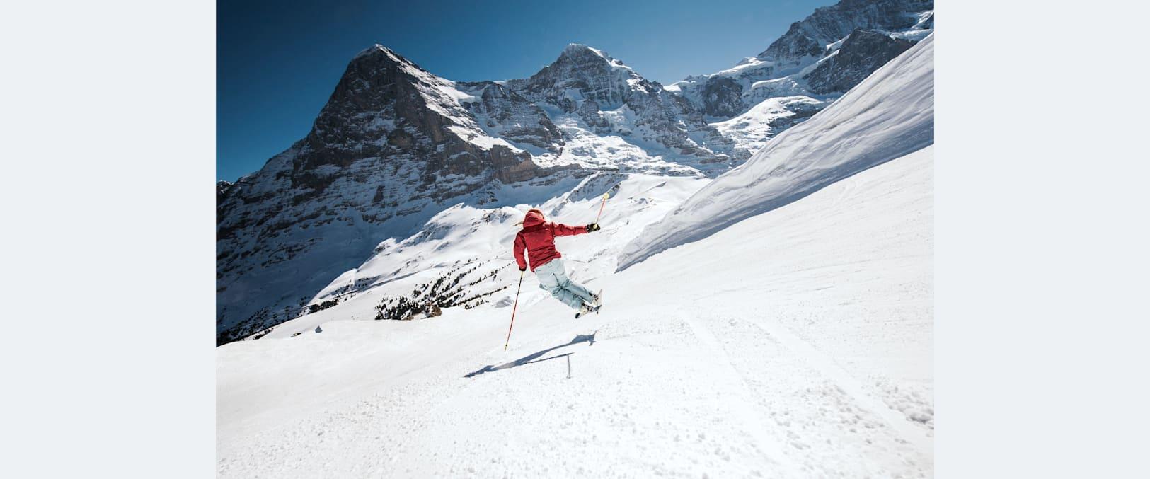 Kleine scheidegg skifahren eiger moench winter 02