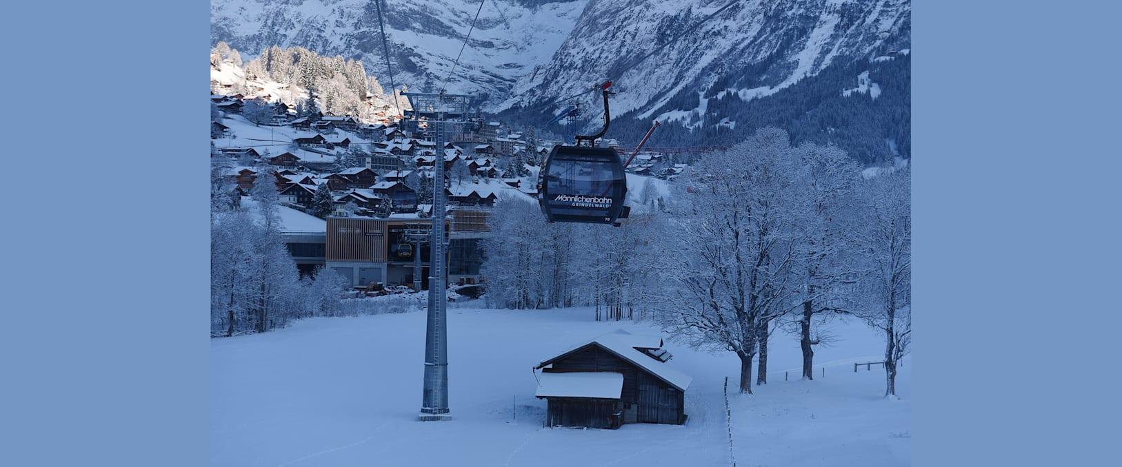 V Bahn GGM Blick zur Talstatio Grindelwald Terminal
