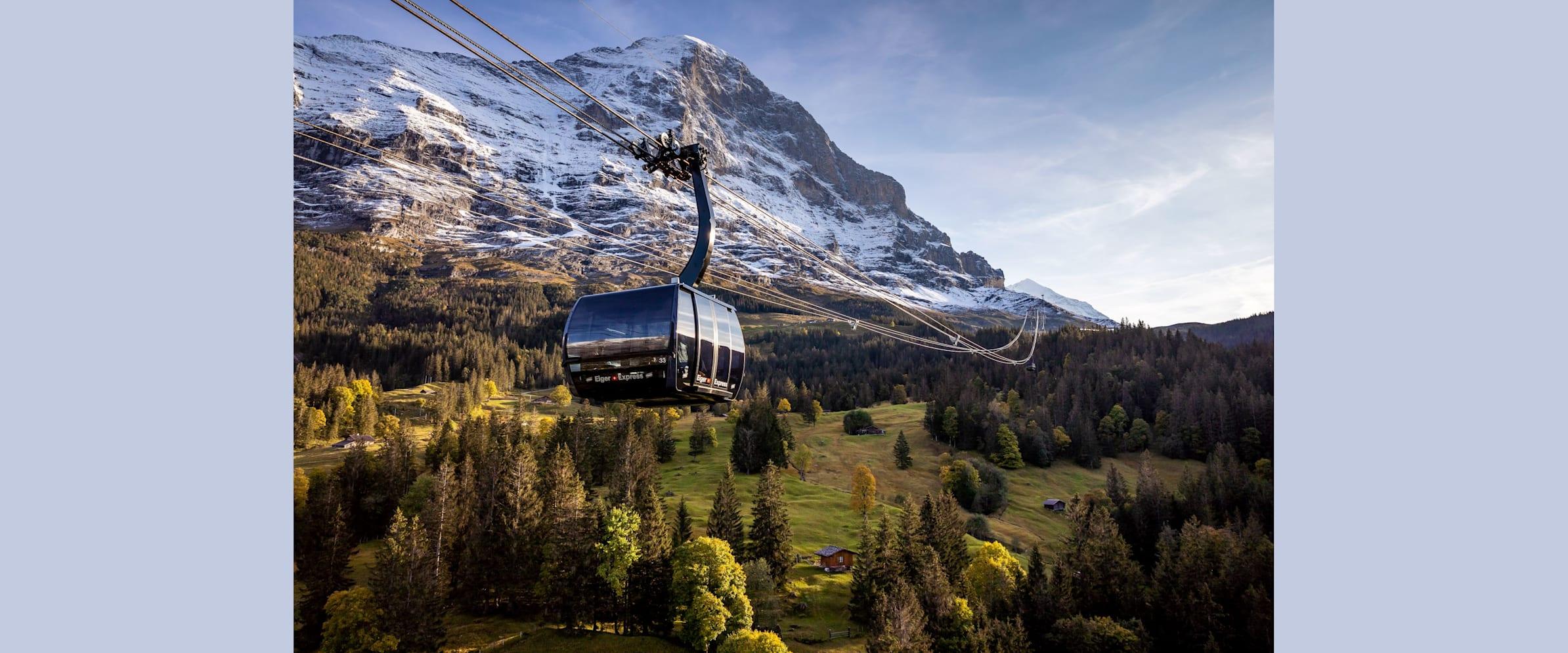 Eiger Express Grindelwald Eigernordwand Nahansicht