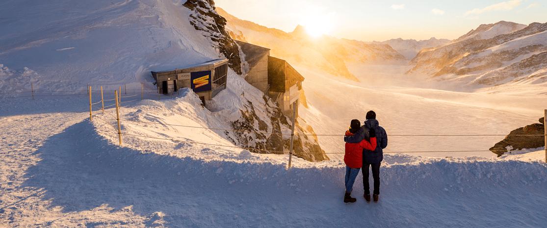 Lever de soleil Jungfraujoch-Top of Europe