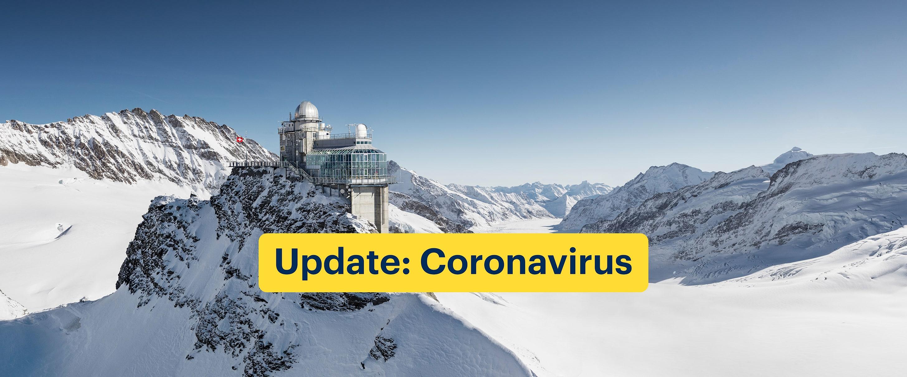 Update Coronavirus Landing Page Geschlossen