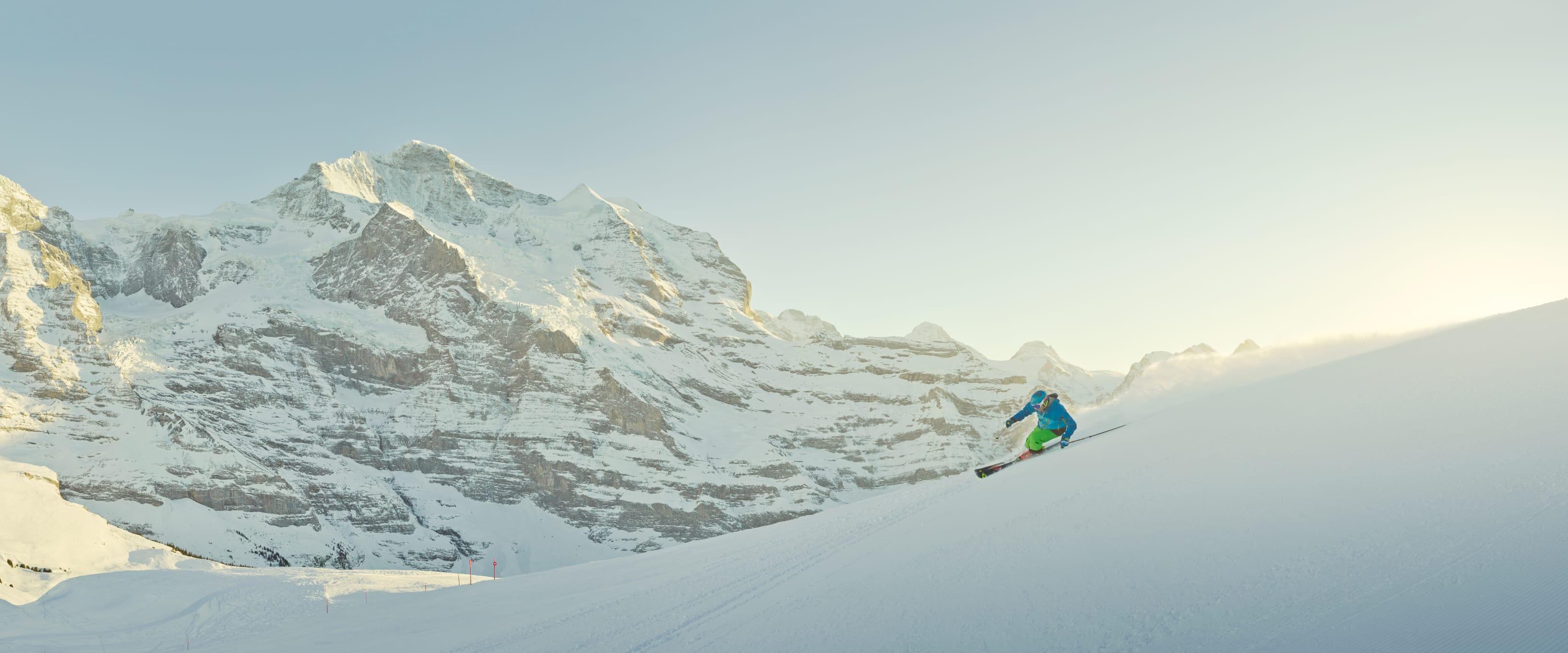 Skifahren Grindelwald Wengen Kleine Scheidegg Maennlichen