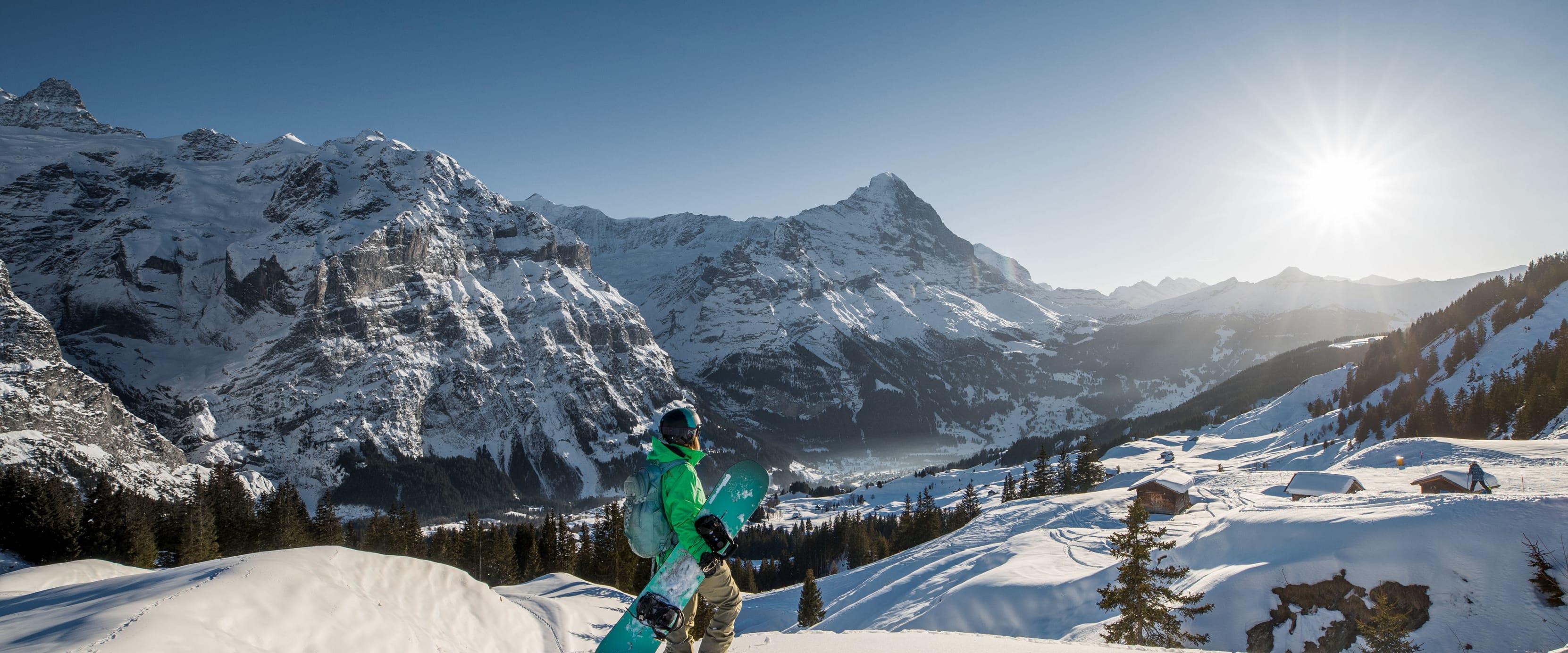 Jungfrau Skiregion Grindelwald Wengen Snowboard Eiger