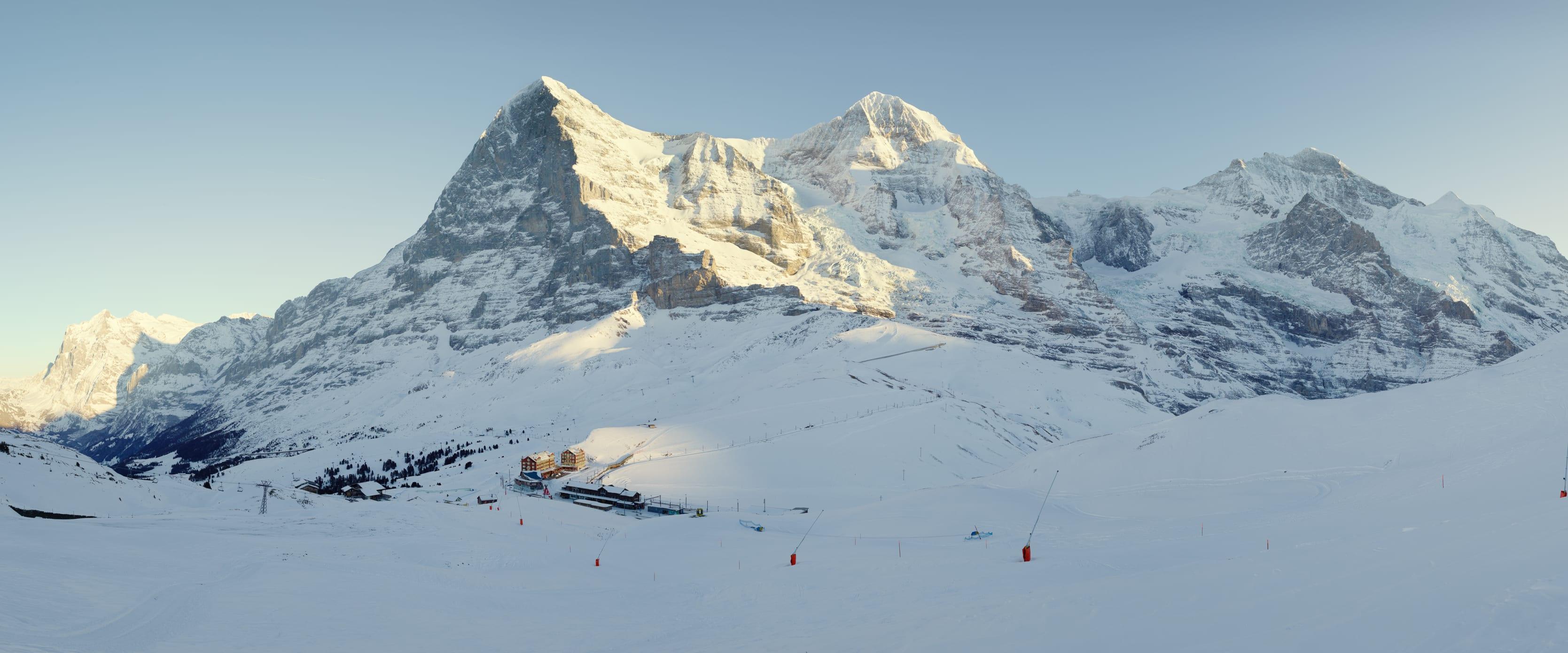Jungfrau-Ski-Region, Kleine-Scheidegg, Skigebiet-Grindelwald-Wengen, Winter