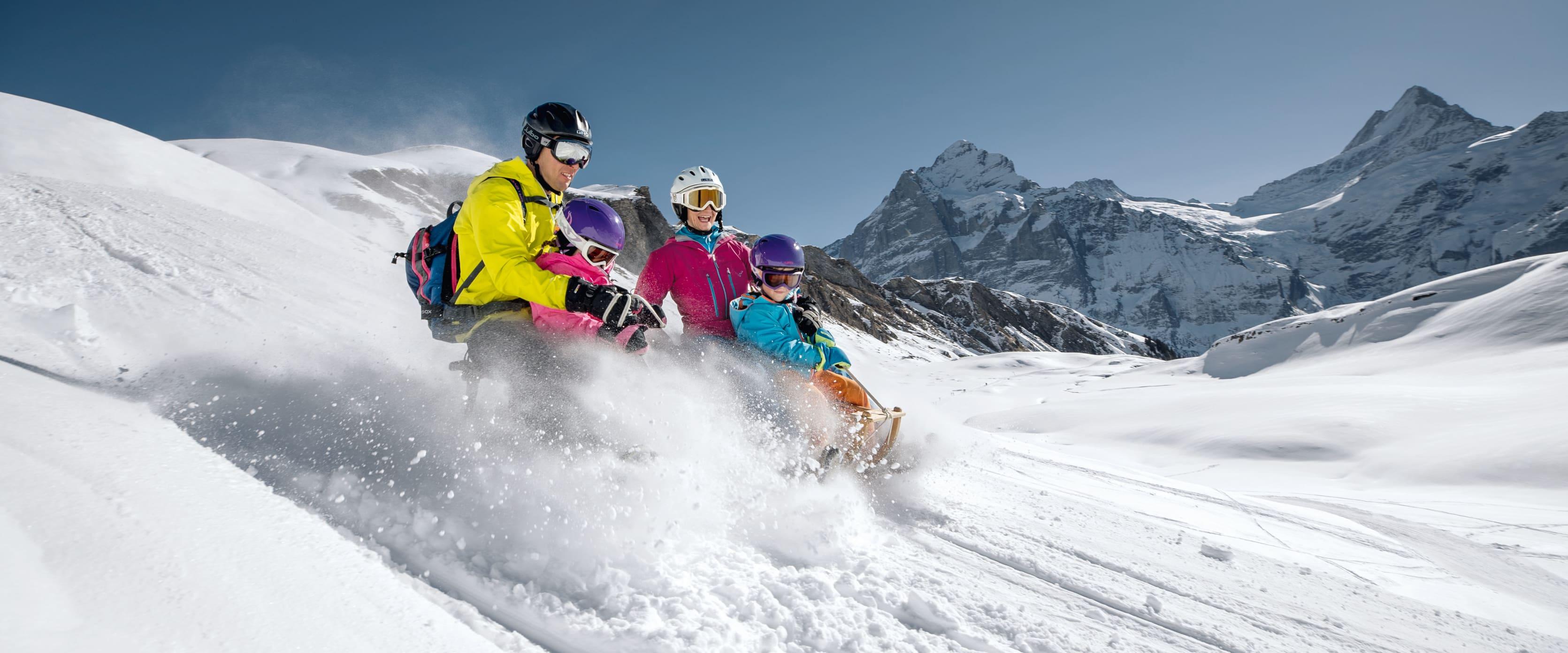 Jungfrau Skiregion Grindelwald Wengen Schlitteln Faulhorn
