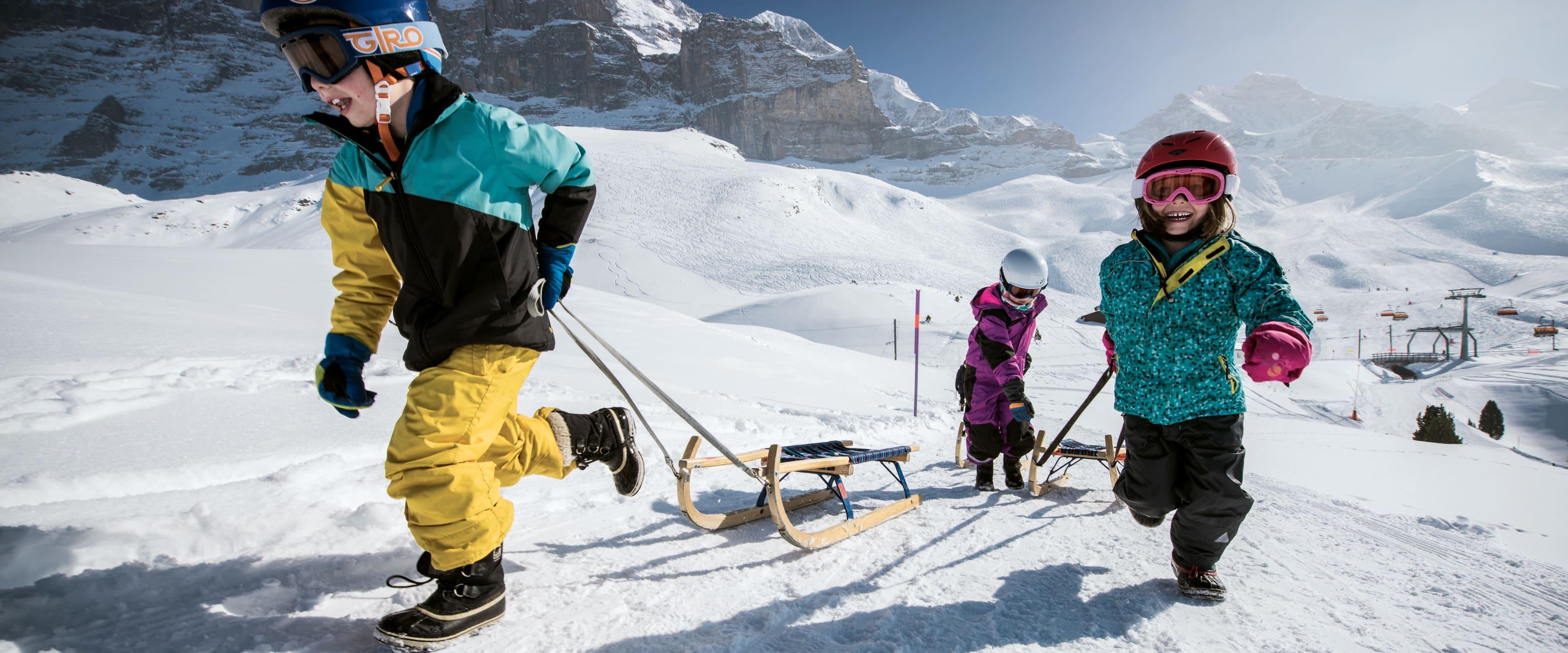 Schlitteltageskarte Grindelwald Wengen