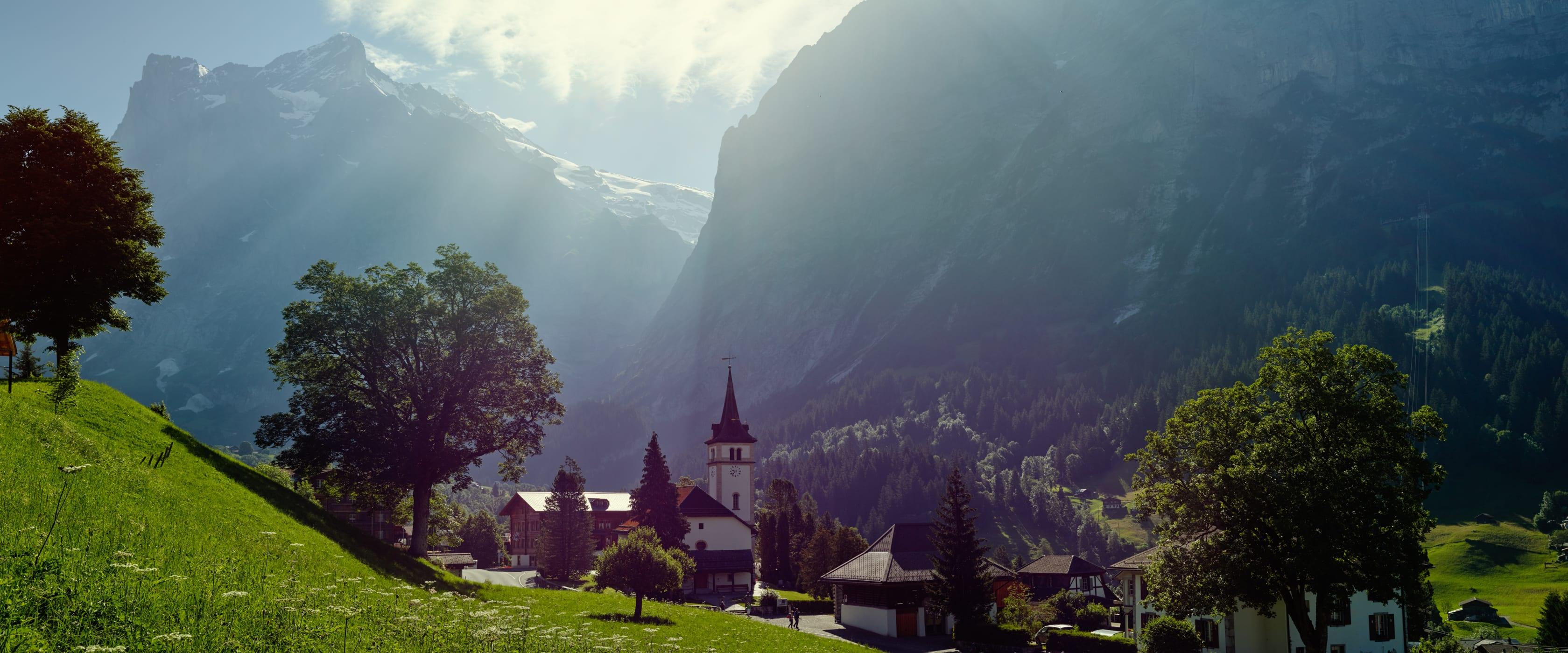 Grindelwald Sommer Wetterhorn Kirche
