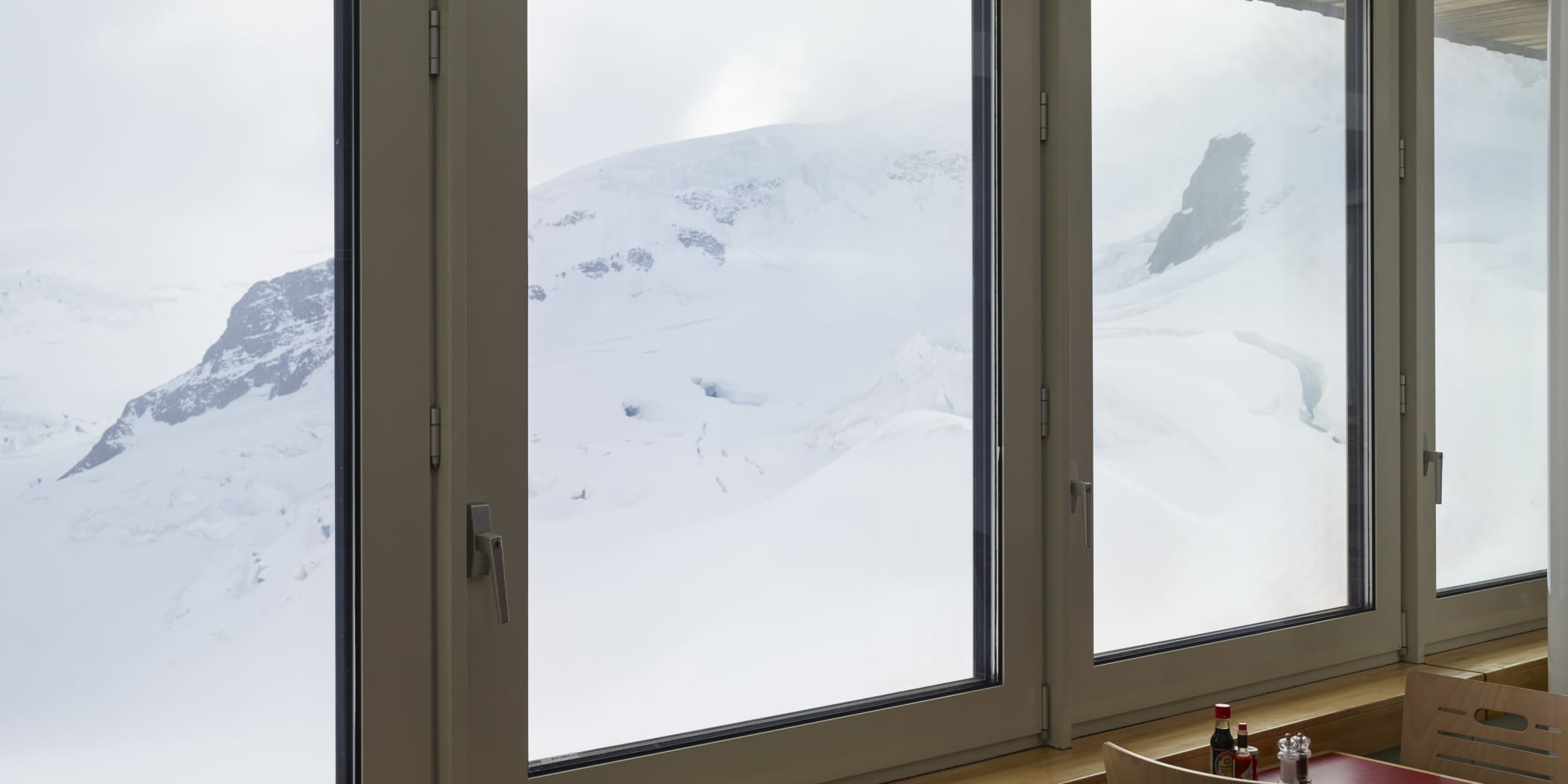 Jungfraujoch Restaurant Aletsch Aussicht Gletscher