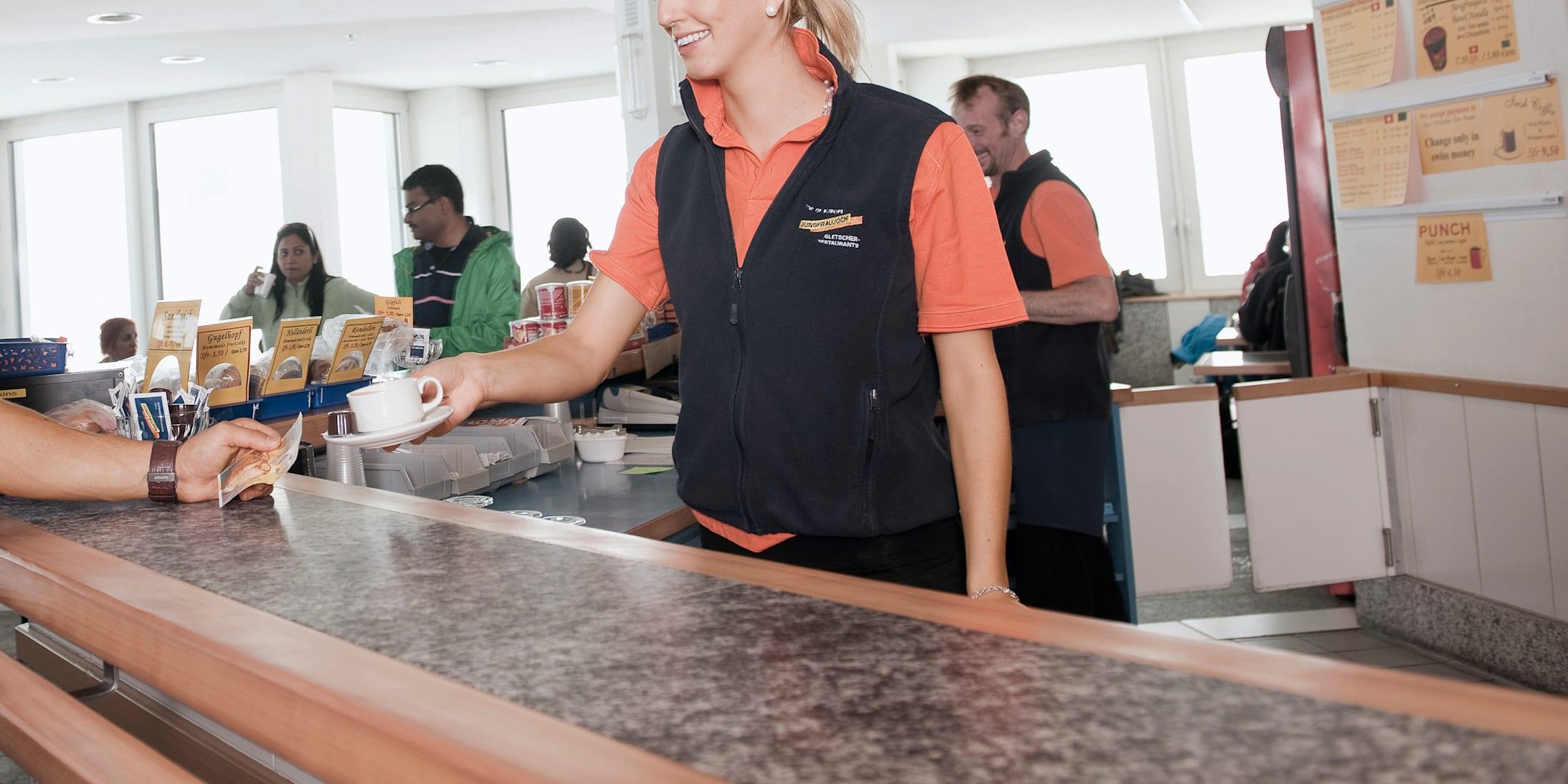 Café-Bar, gastro, inside view, season, Jungfraujoch-Top-of-Europe, jungfrau.ch