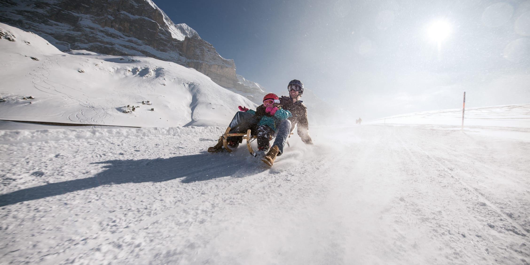Jungfrau grindelwald eiger run schlitteln