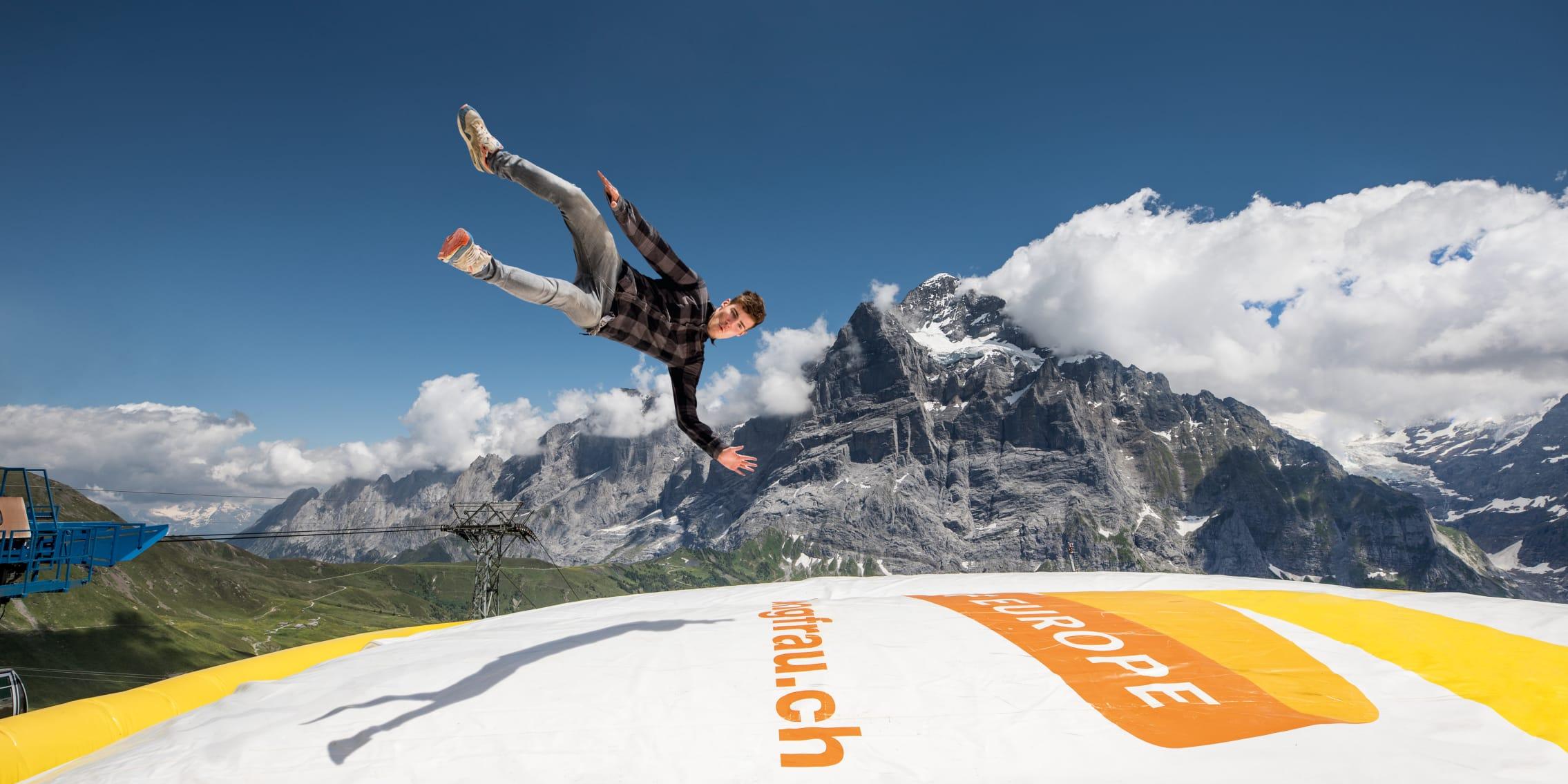 Elie-Stettler, Erlebnisse-Aktivitaeten, First Bagjump, Grindelwald-First-Sommer, Jahreszeit, Mitarbeiter Jungfraubahnen, Sommer, jungfrau.ch