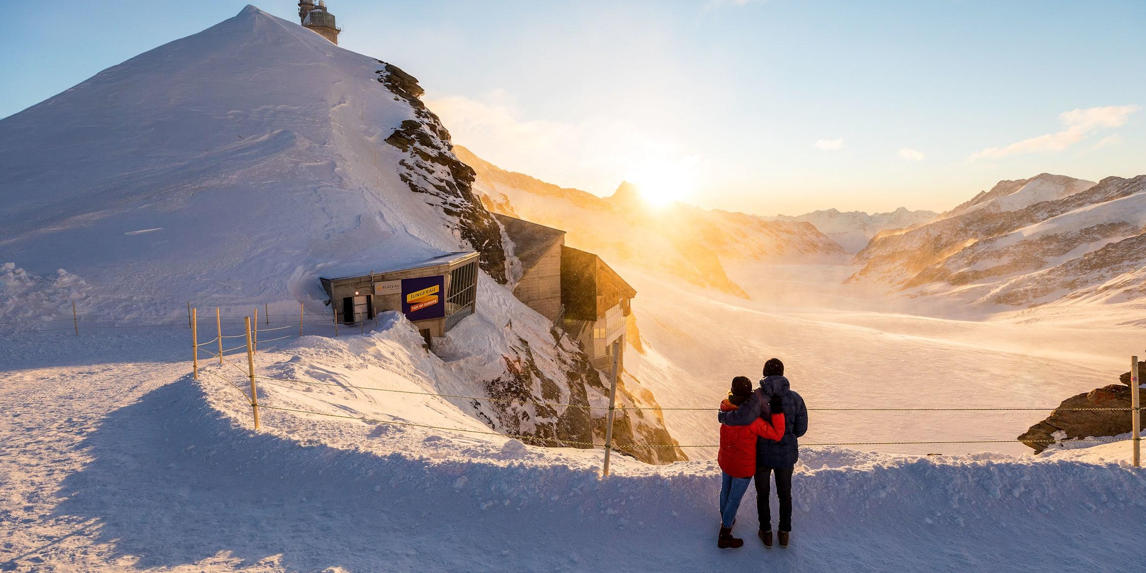 Abend-Morgenstimmung, Erlebnisse-Aktivitaeten, Jungfraujoch, Jungfraujoch-Top-of-Europe, Plateau, Sommer, Verhältnisse, Winter, jungfrau.ch