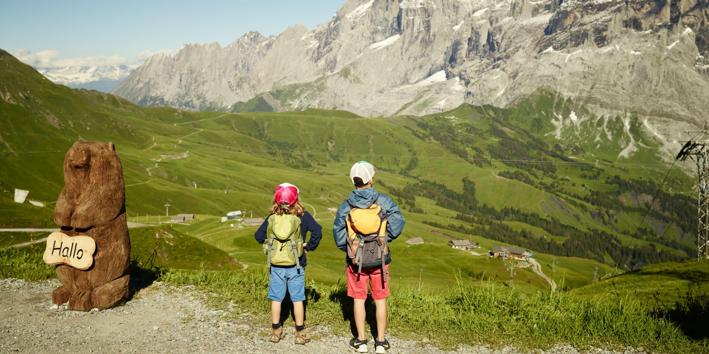Grindelwald First Murmeltier Lehrpfad Kinder